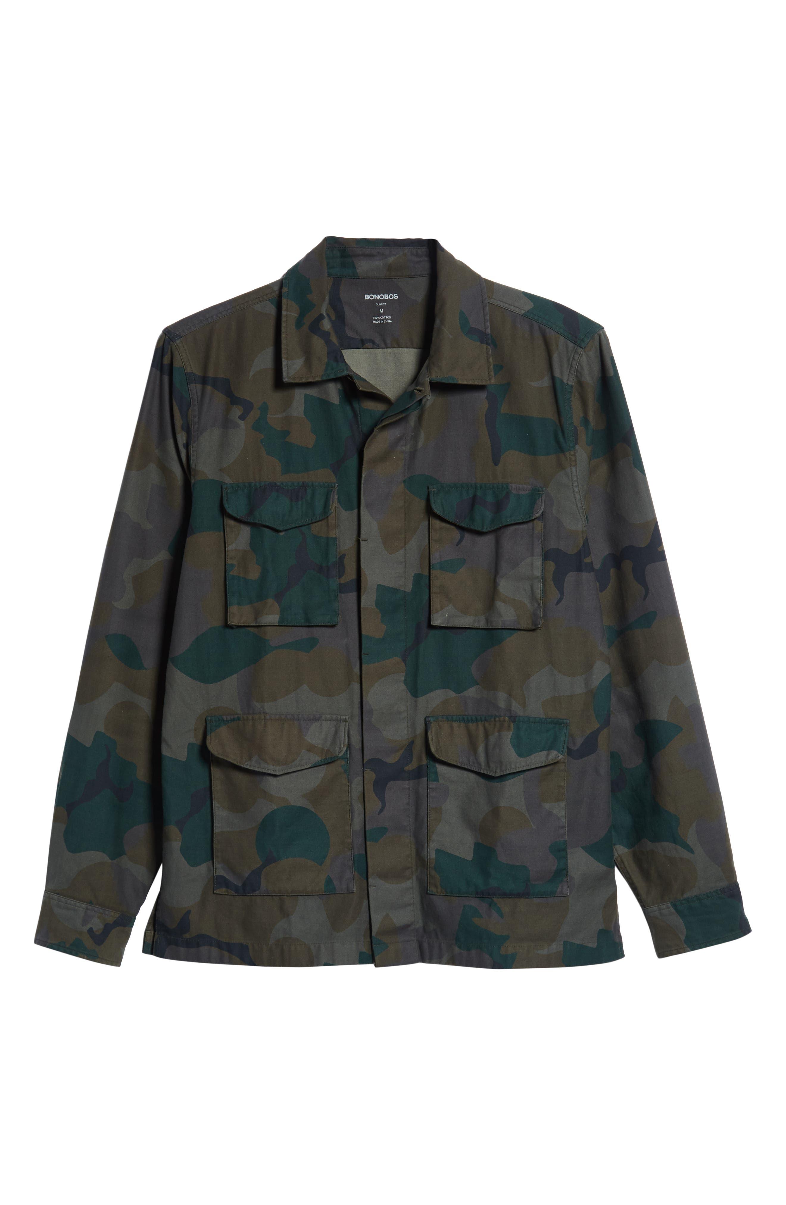 Four-Pocket Military Jacket,                             Alternate thumbnail 5, color,                             301