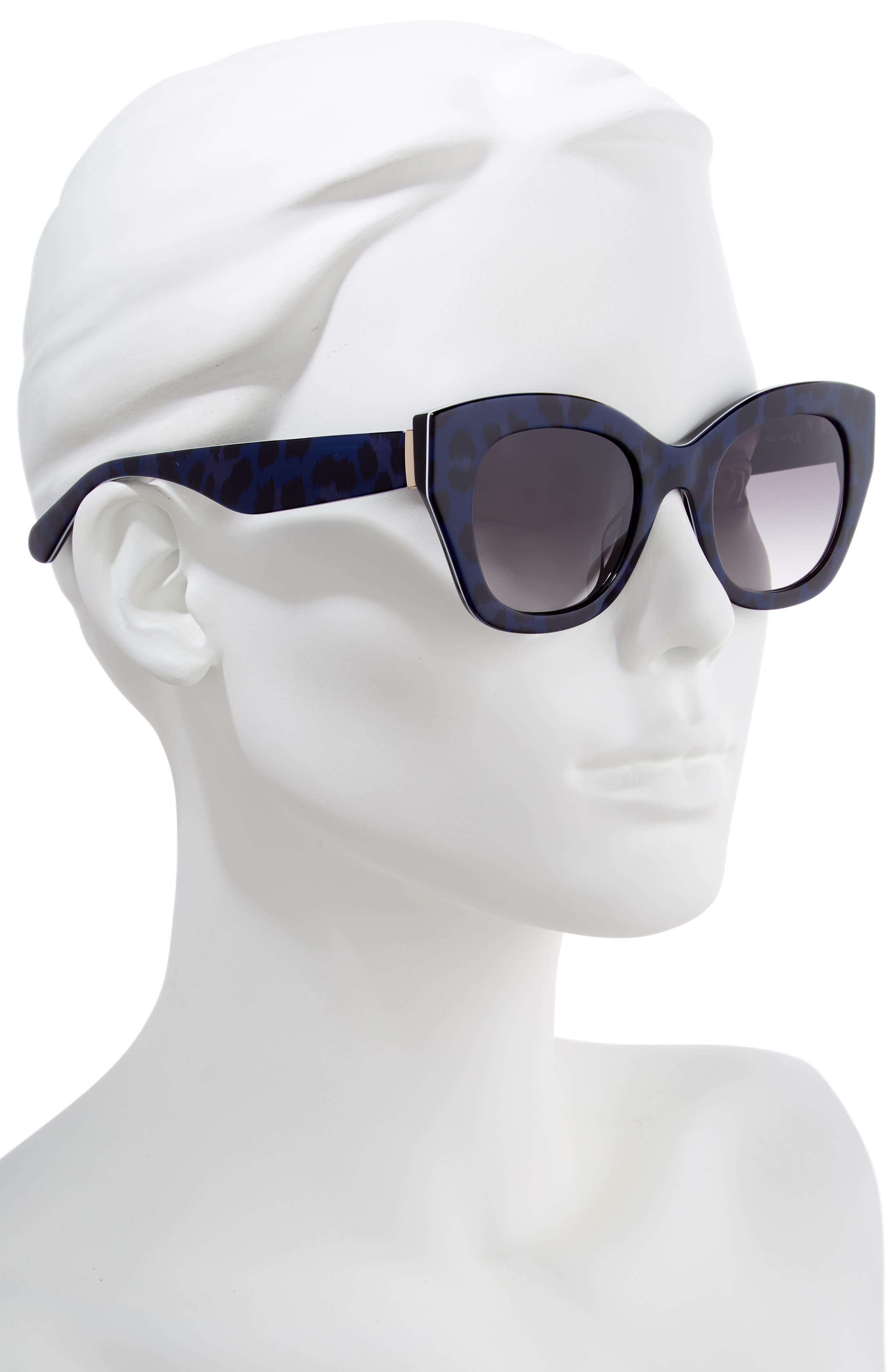jalena 49mm gradient sunglasses,                             Alternate thumbnail 2, color,                             BLACK PATTERN BLACK