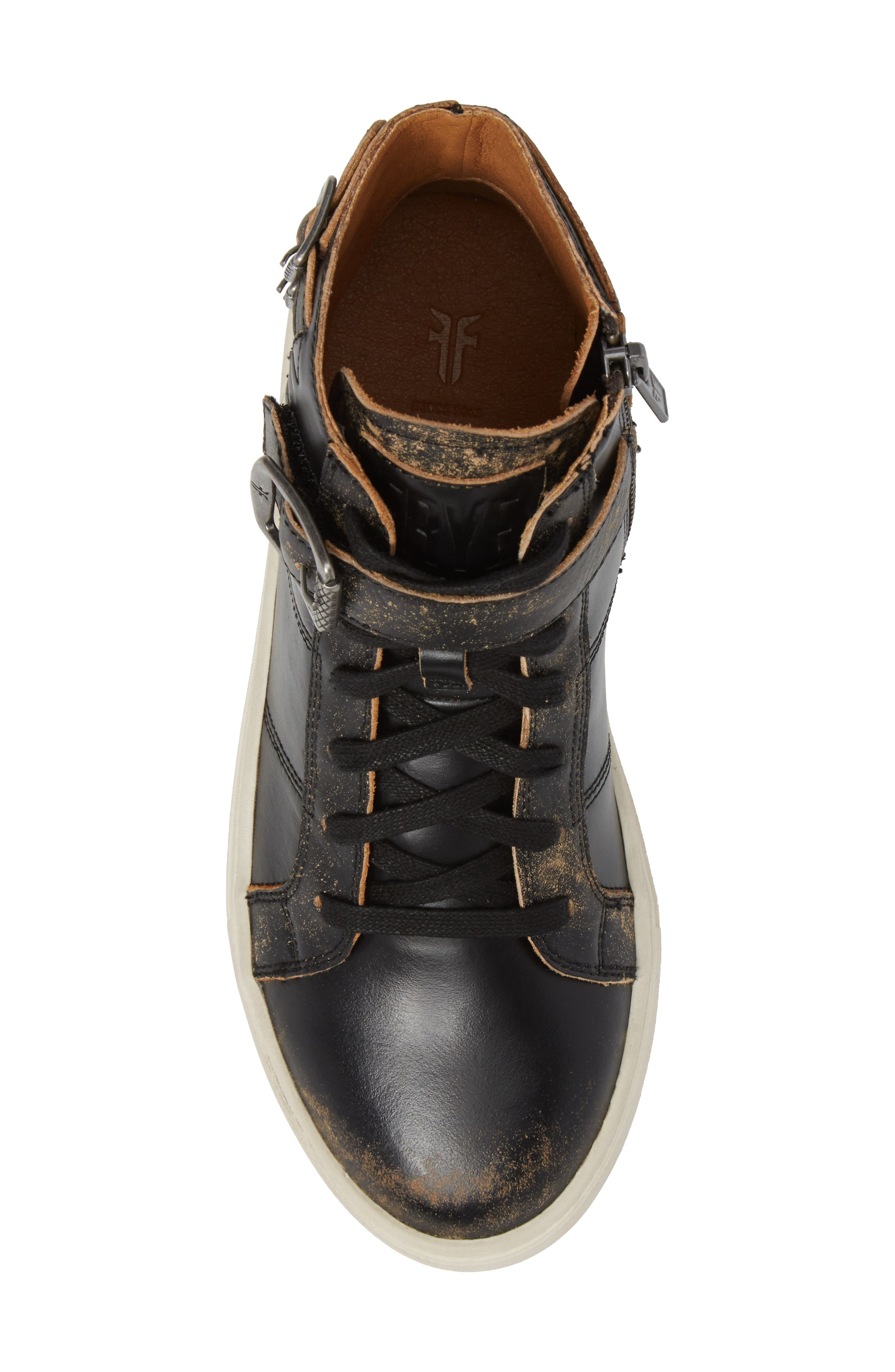 Dylan Buckle Strap High-Top Sneaker,                             Alternate thumbnail 5, color,                             204