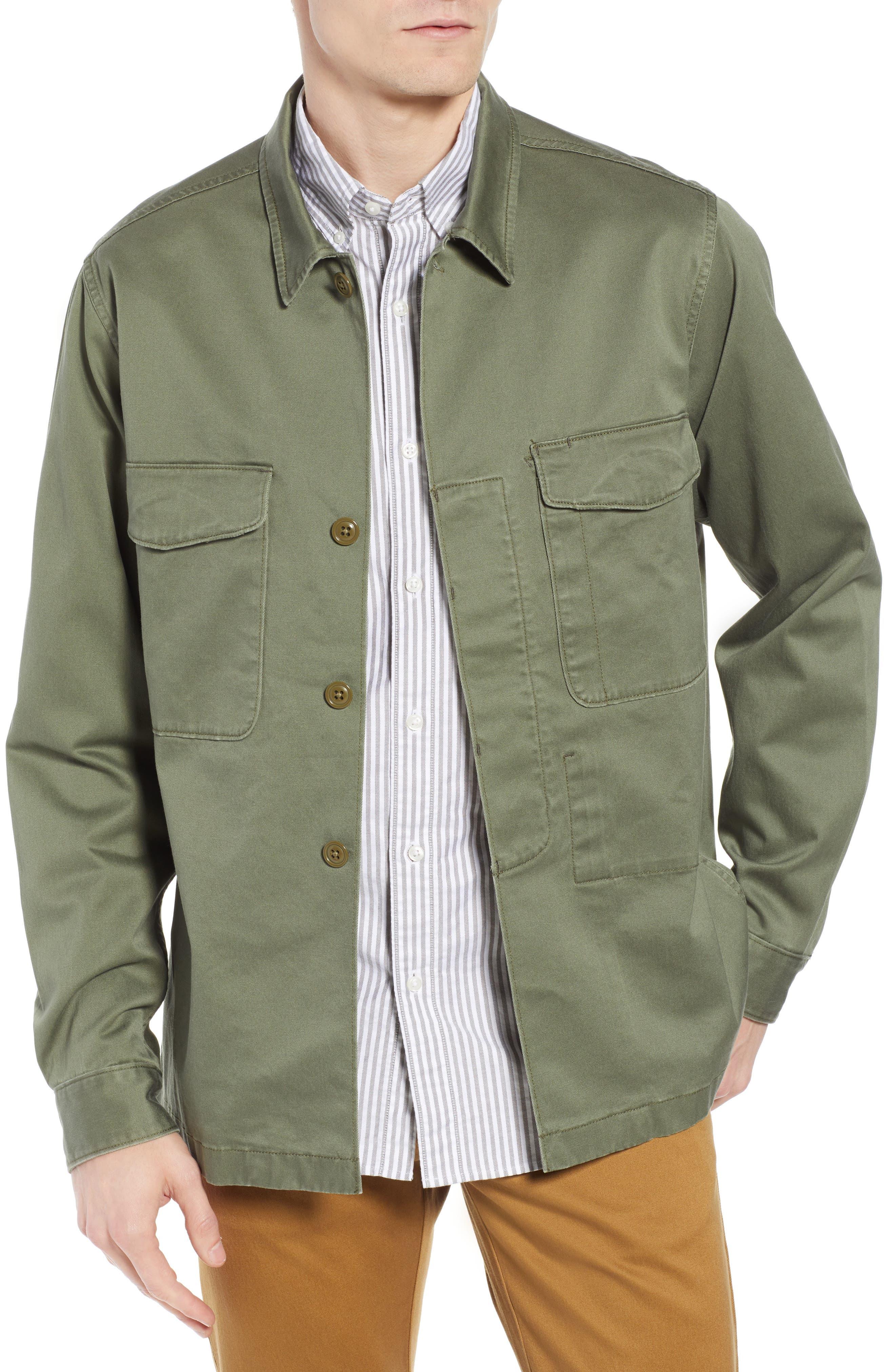 Regular Fit Military Shirt Jacket,                             Main thumbnail 1, color,                             SURPLUS OLIVE