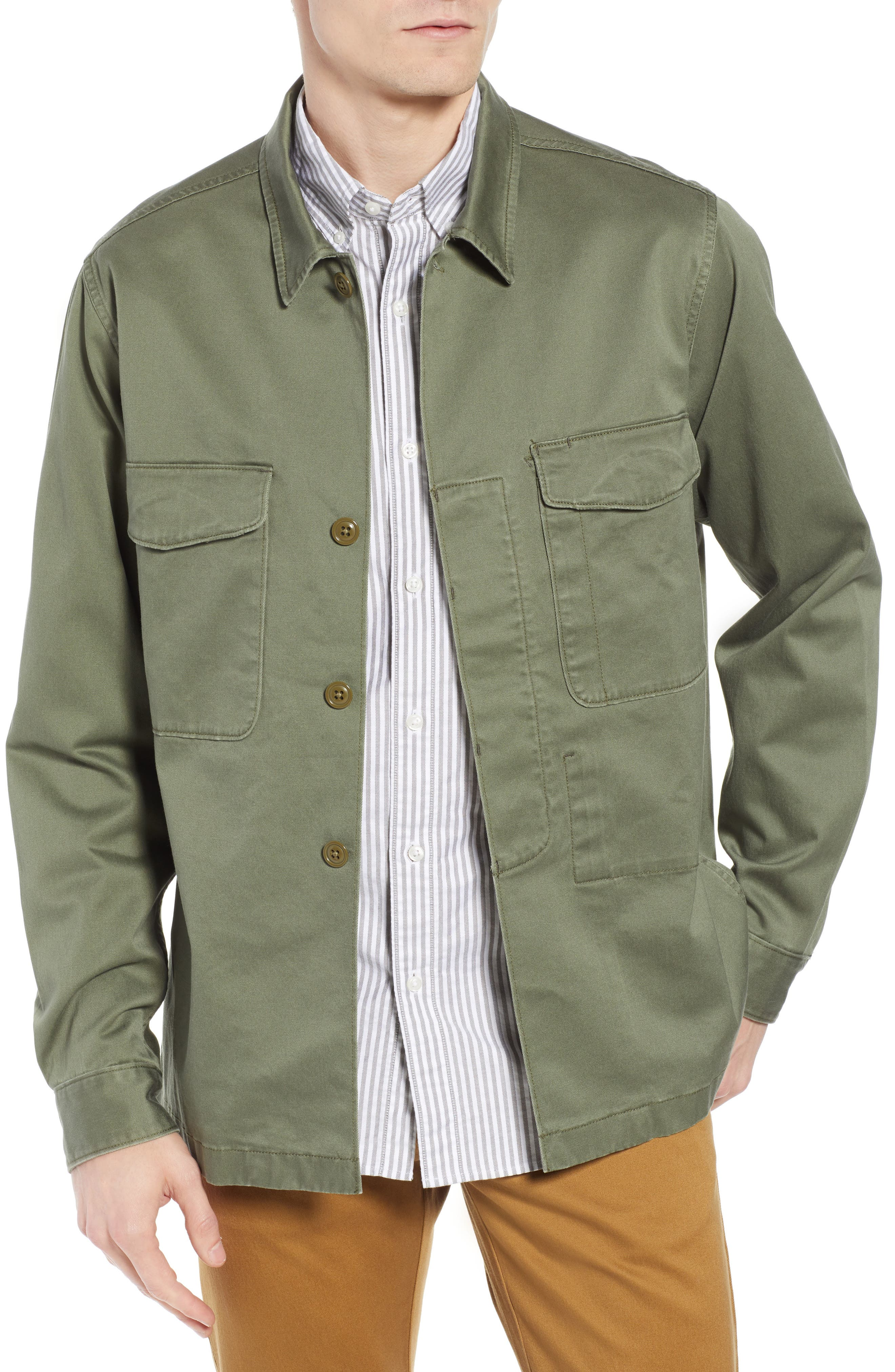 Regular Fit Military Shirt Jacket,                         Main,                         color, SURPLUS OLIVE