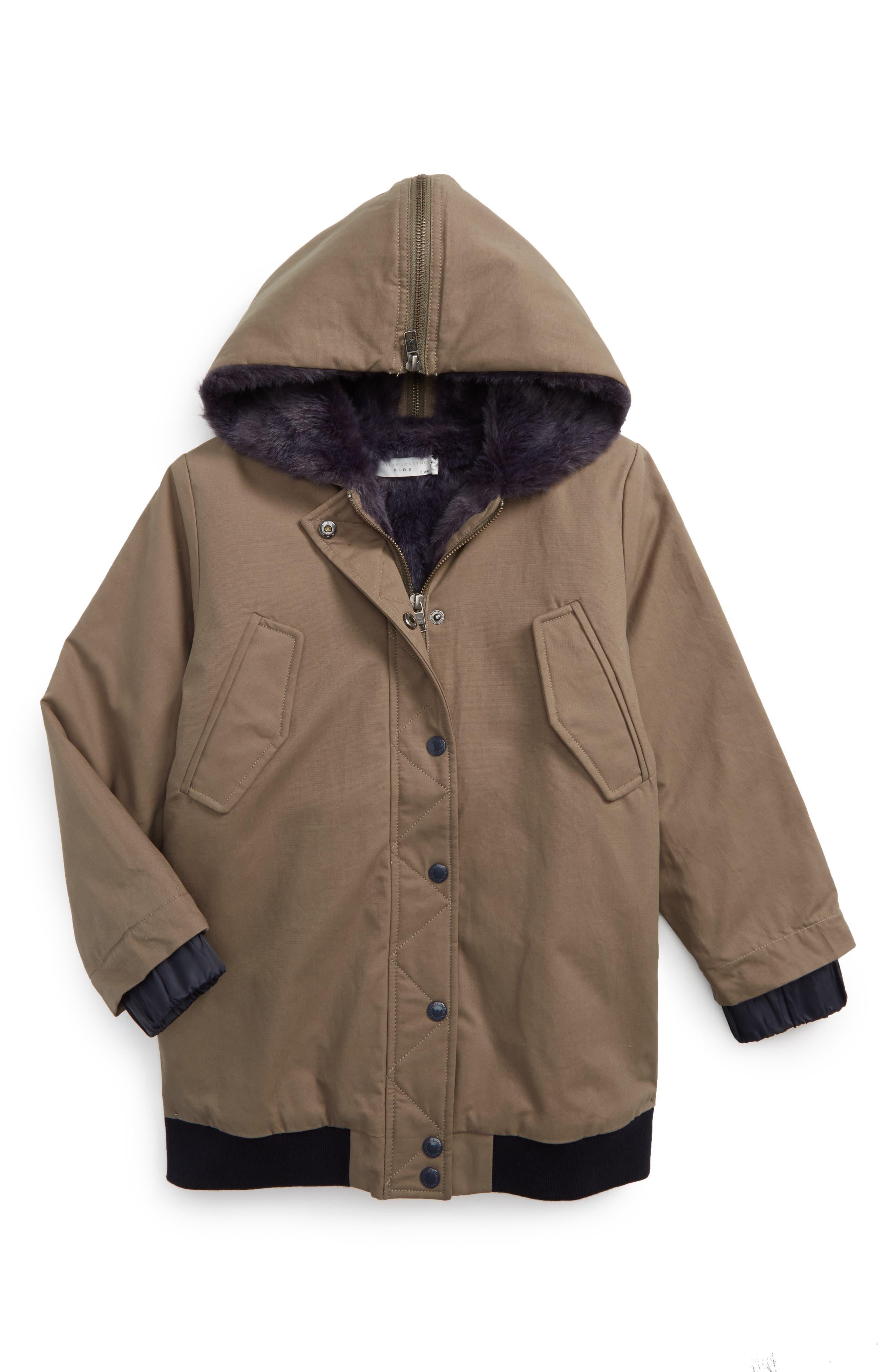 Dakota Jacket with Faux Fur Trim,                         Main,                         color, 370
