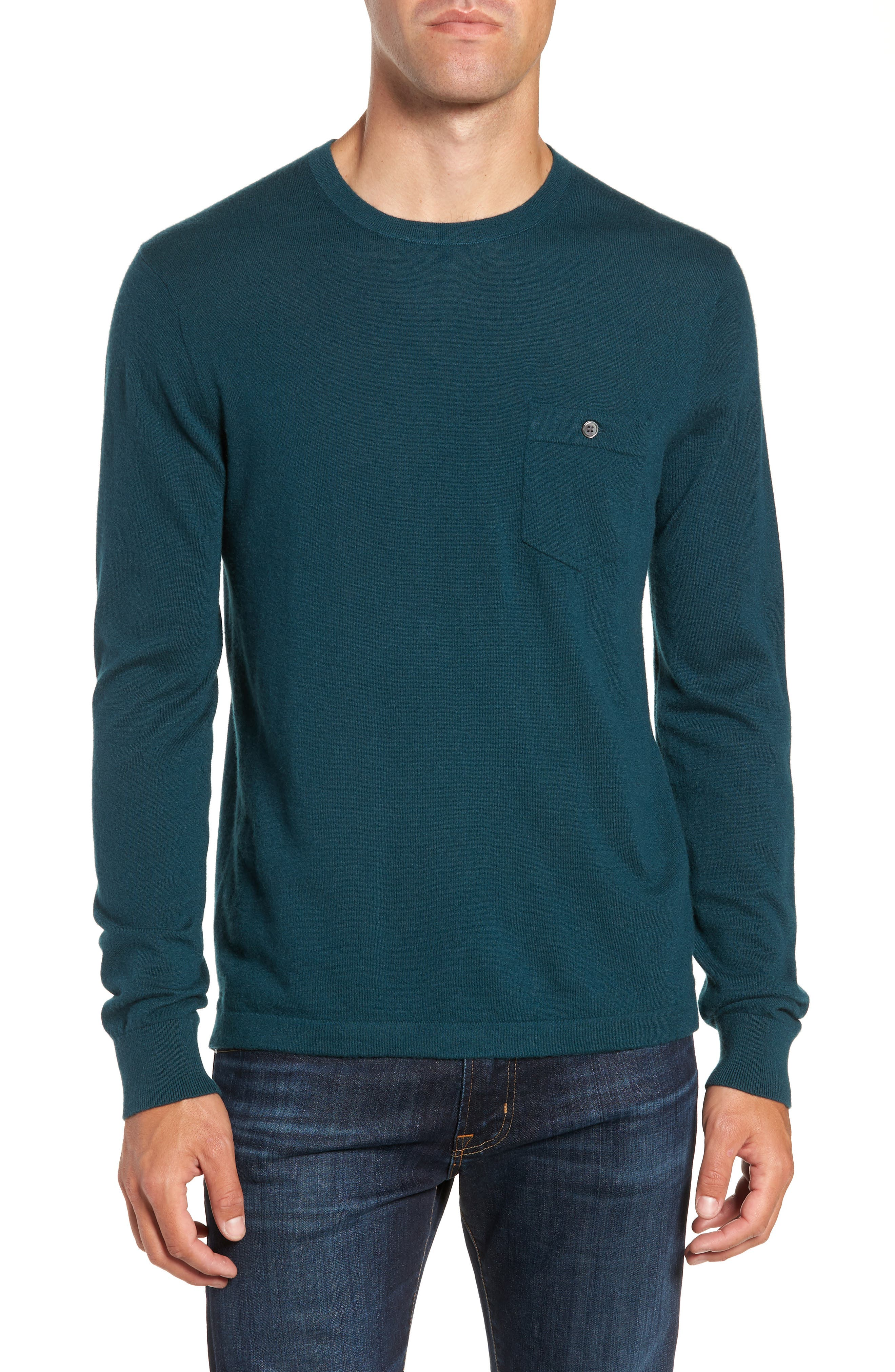 Cashmere Sweater,                             Main thumbnail 1, color,                             PETROL