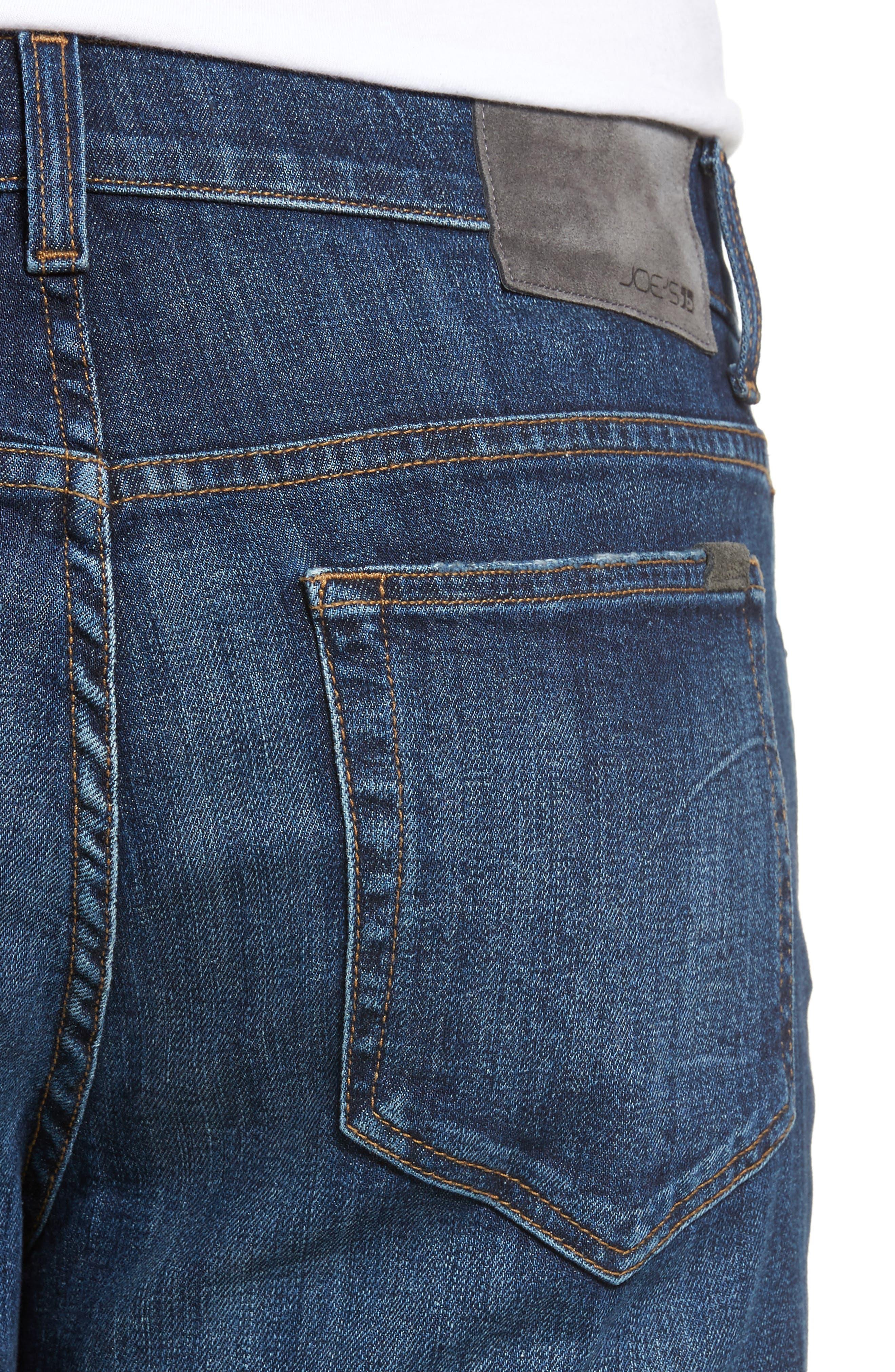 Classic Straight Fit Jeans,                             Alternate thumbnail 4, color,                             VIZZINI