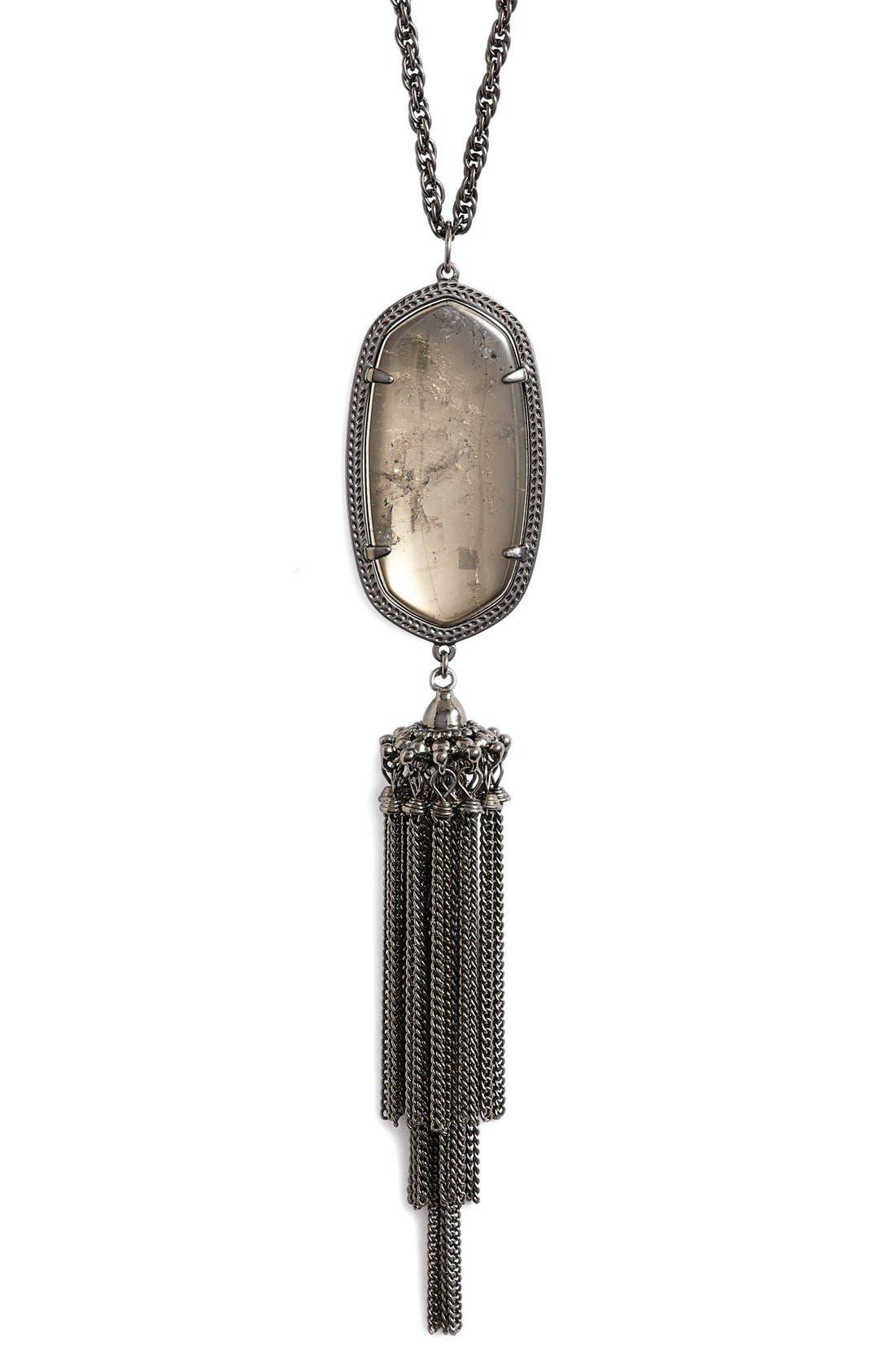 'Rayne' Tassel Pendant Necklace,                             Alternate thumbnail 26, color,