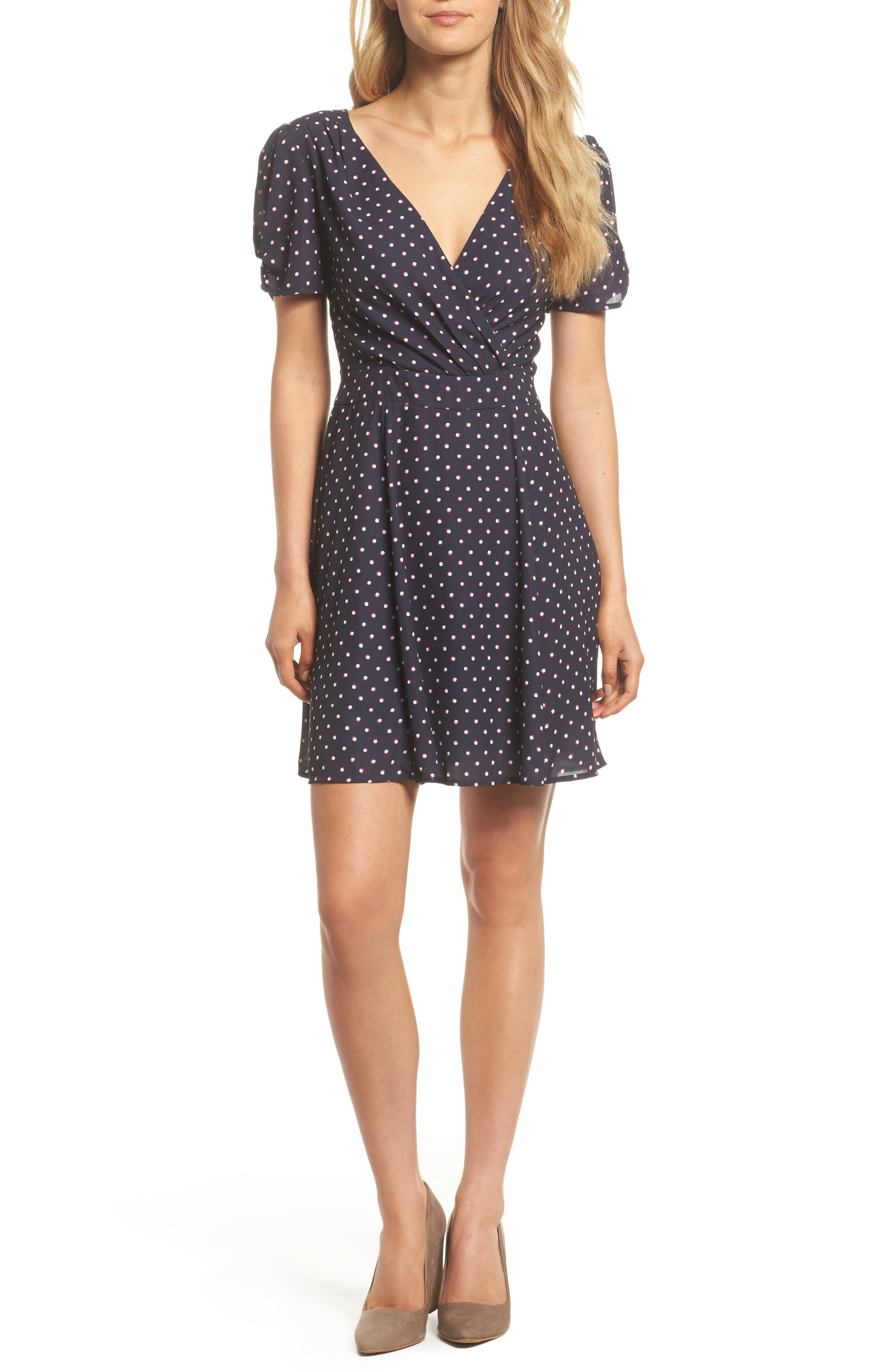 Vera Fit & Flare Dress,                         Main,                         color, 410