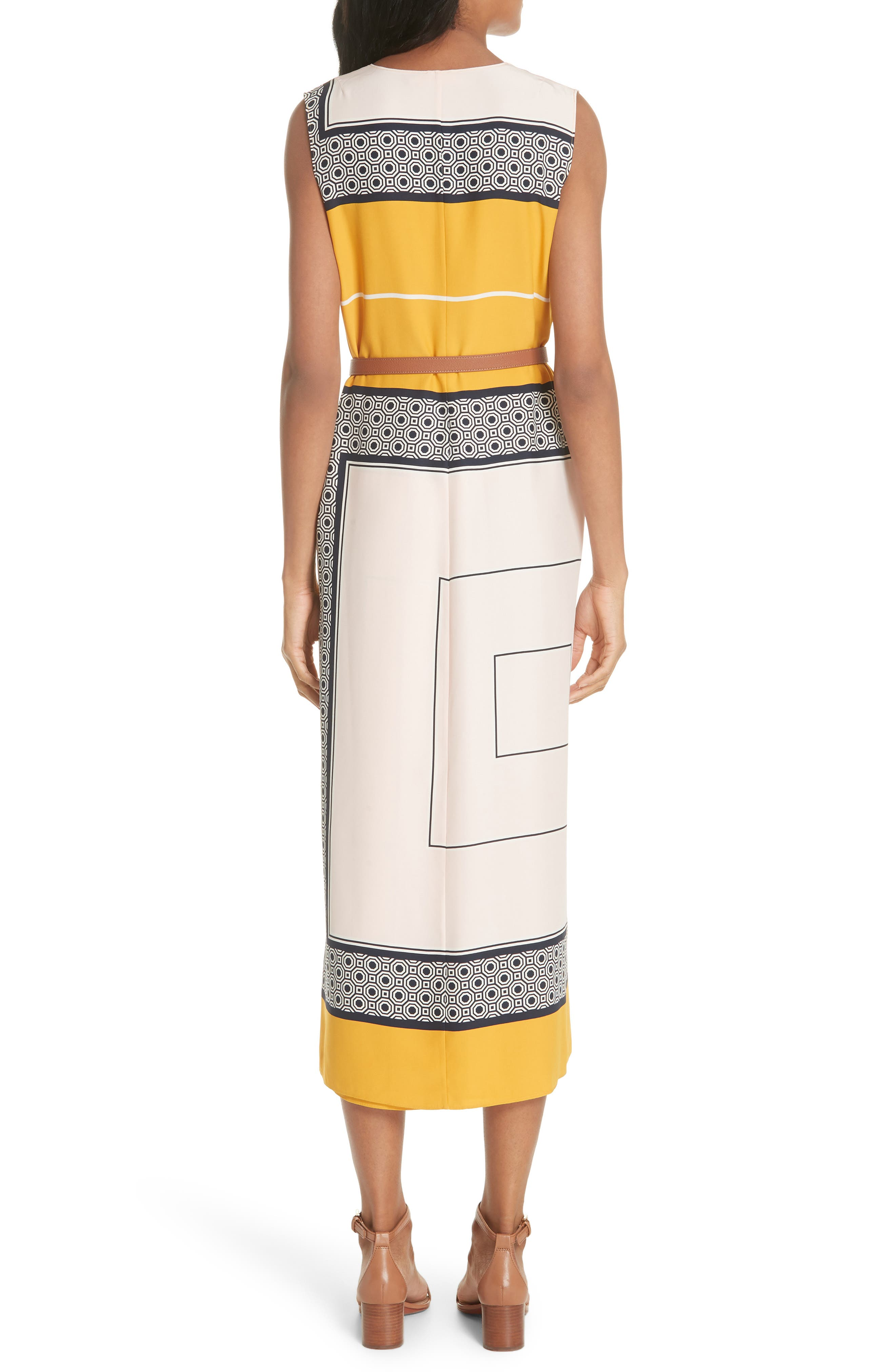 Clarice Belted Silk Wrap Dress,                             Alternate thumbnail 2, color,                             658
