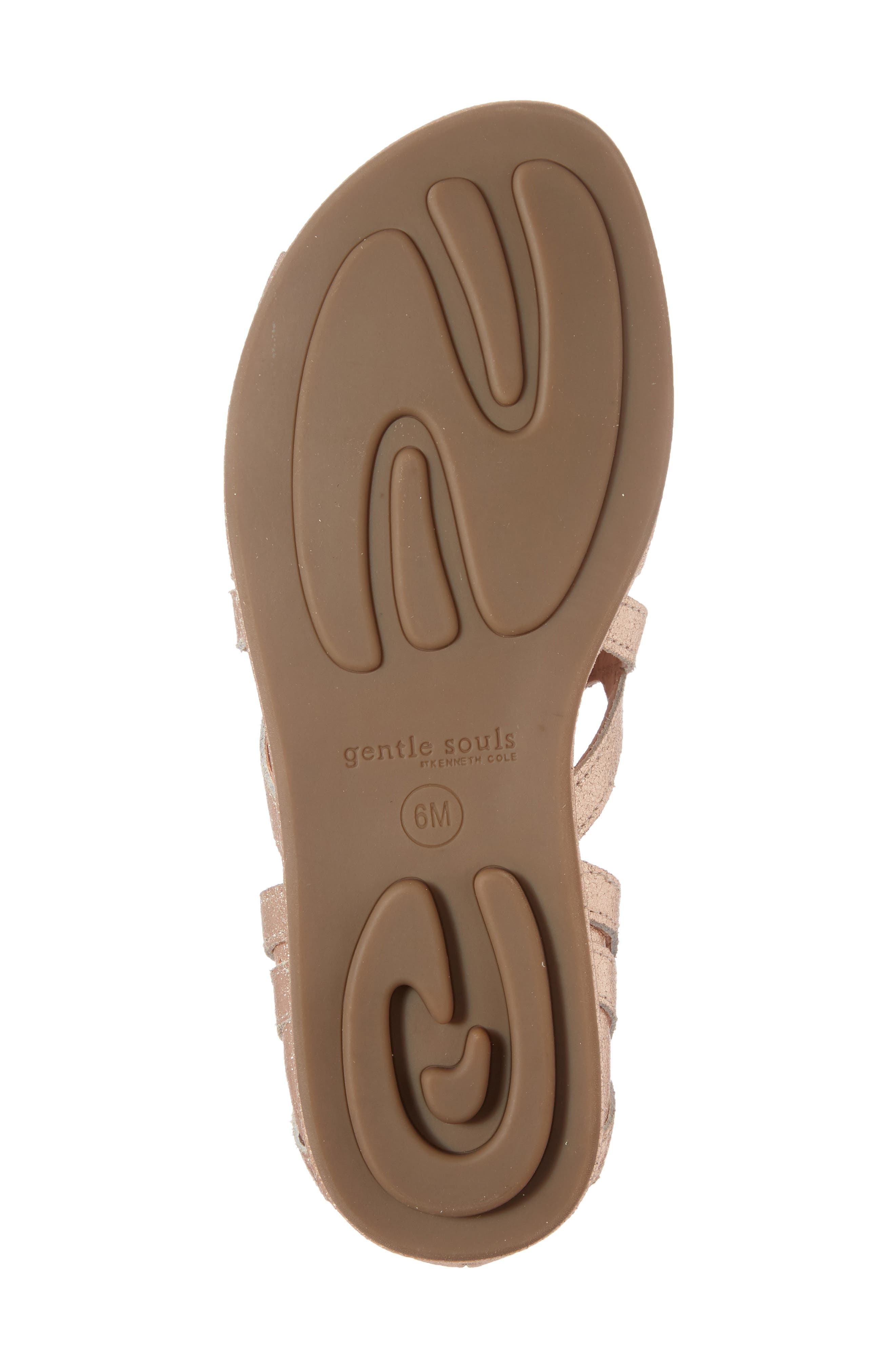 Orly Lace-Up Sandal,                             Alternate thumbnail 6, color,                             ROSE GOLD LEATHER