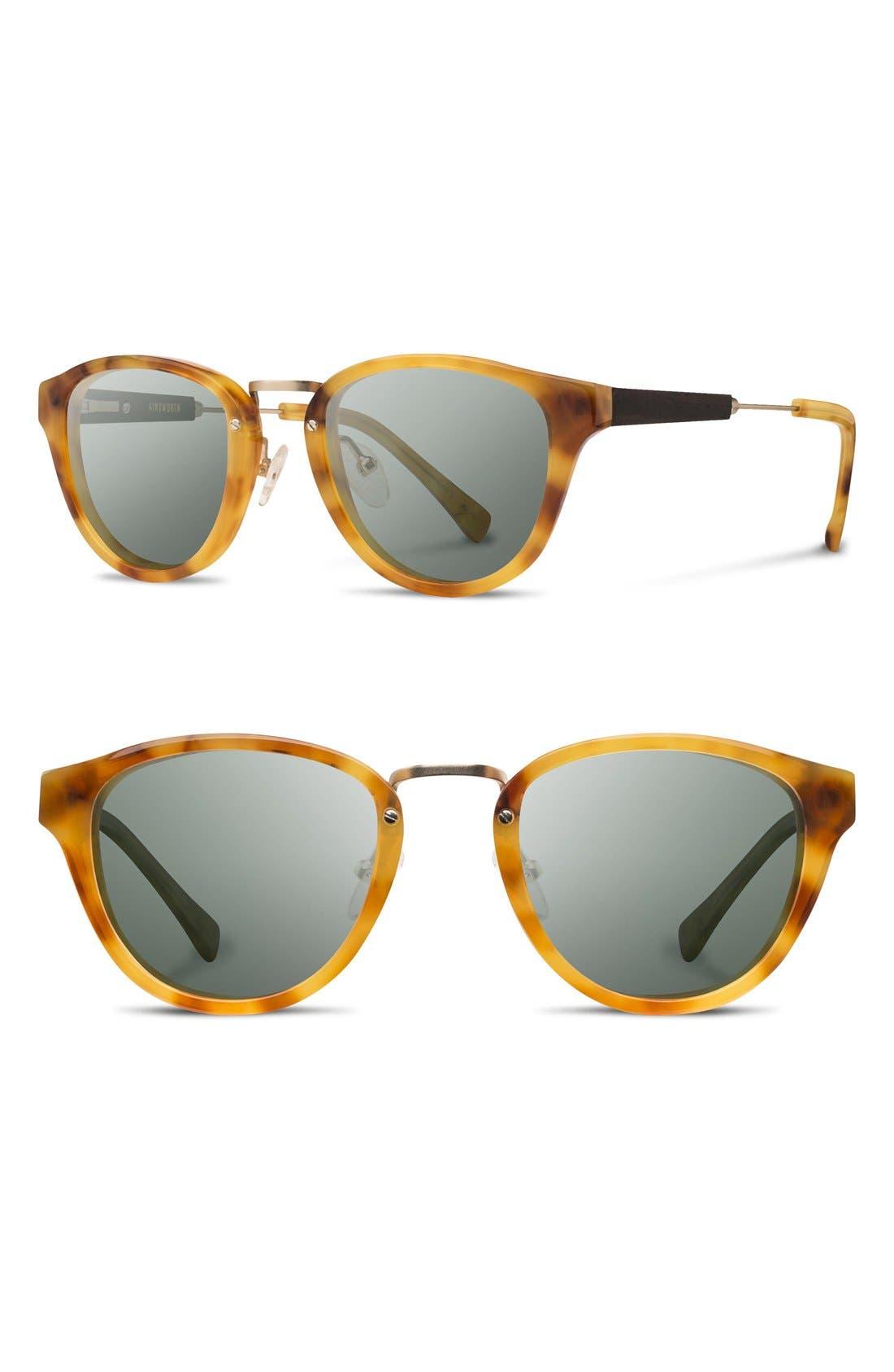 'Ainsworth' 49mm Acetate & Wood Sunglasses,                             Main thumbnail 1, color,                             720