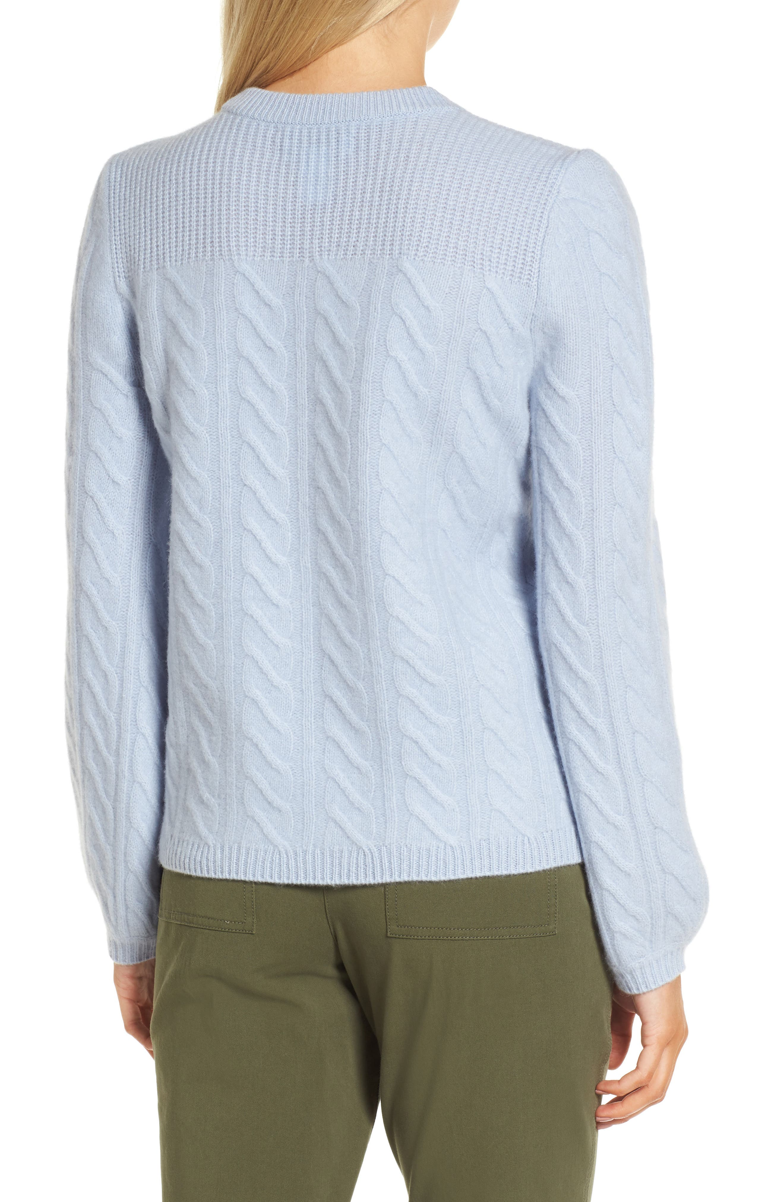 Cable Cashmere Sweater,                             Alternate thumbnail 2, color,