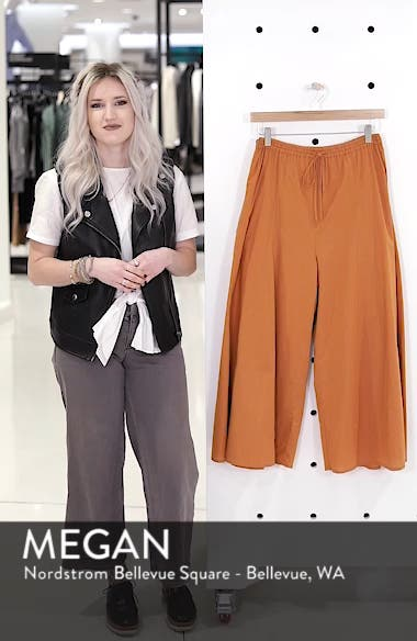 Wide Leg Cotton Pants, sales video thumbnail