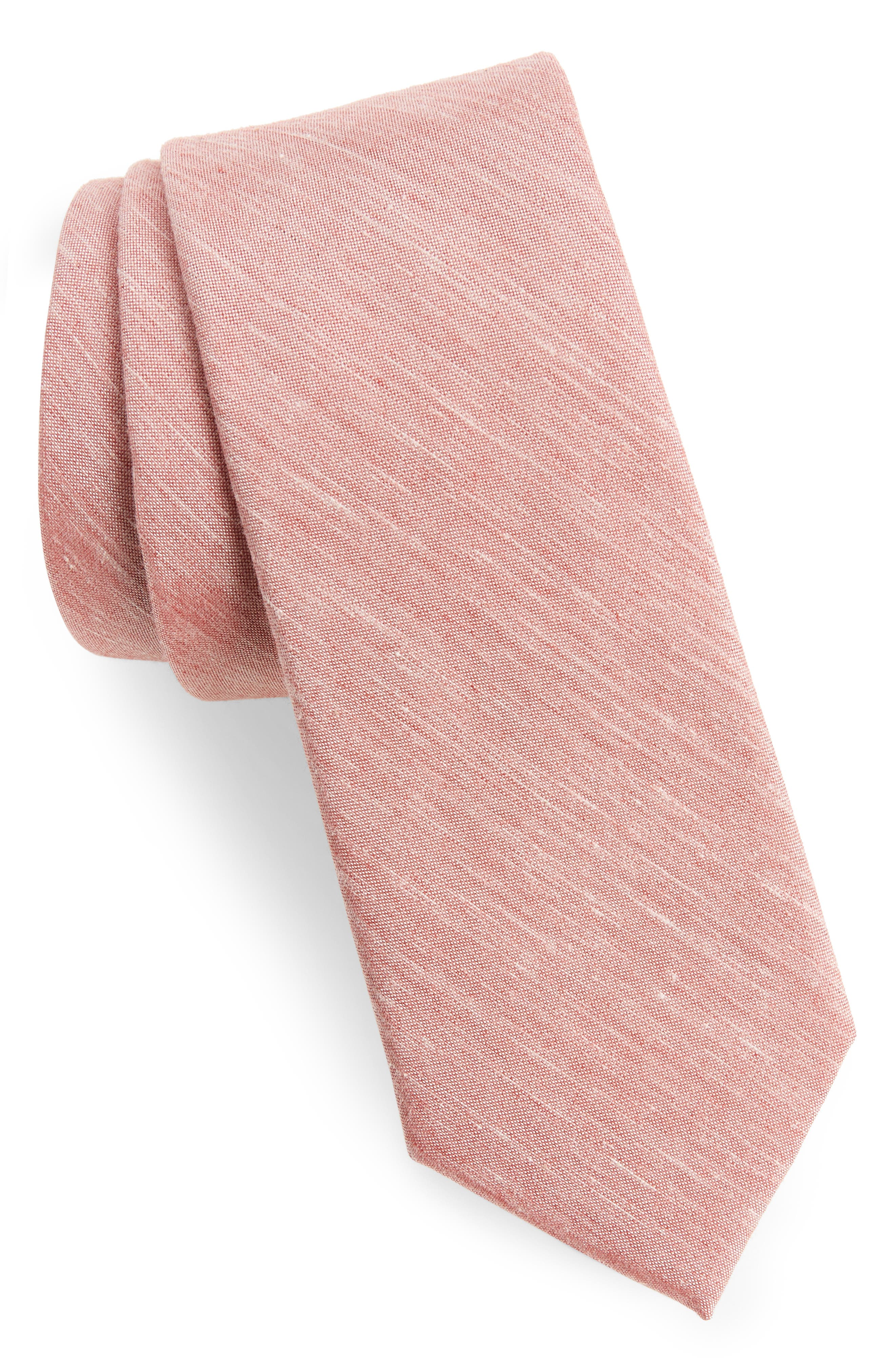 Marcus Solid Cotton Blend Tie,                             Main thumbnail 4, color,