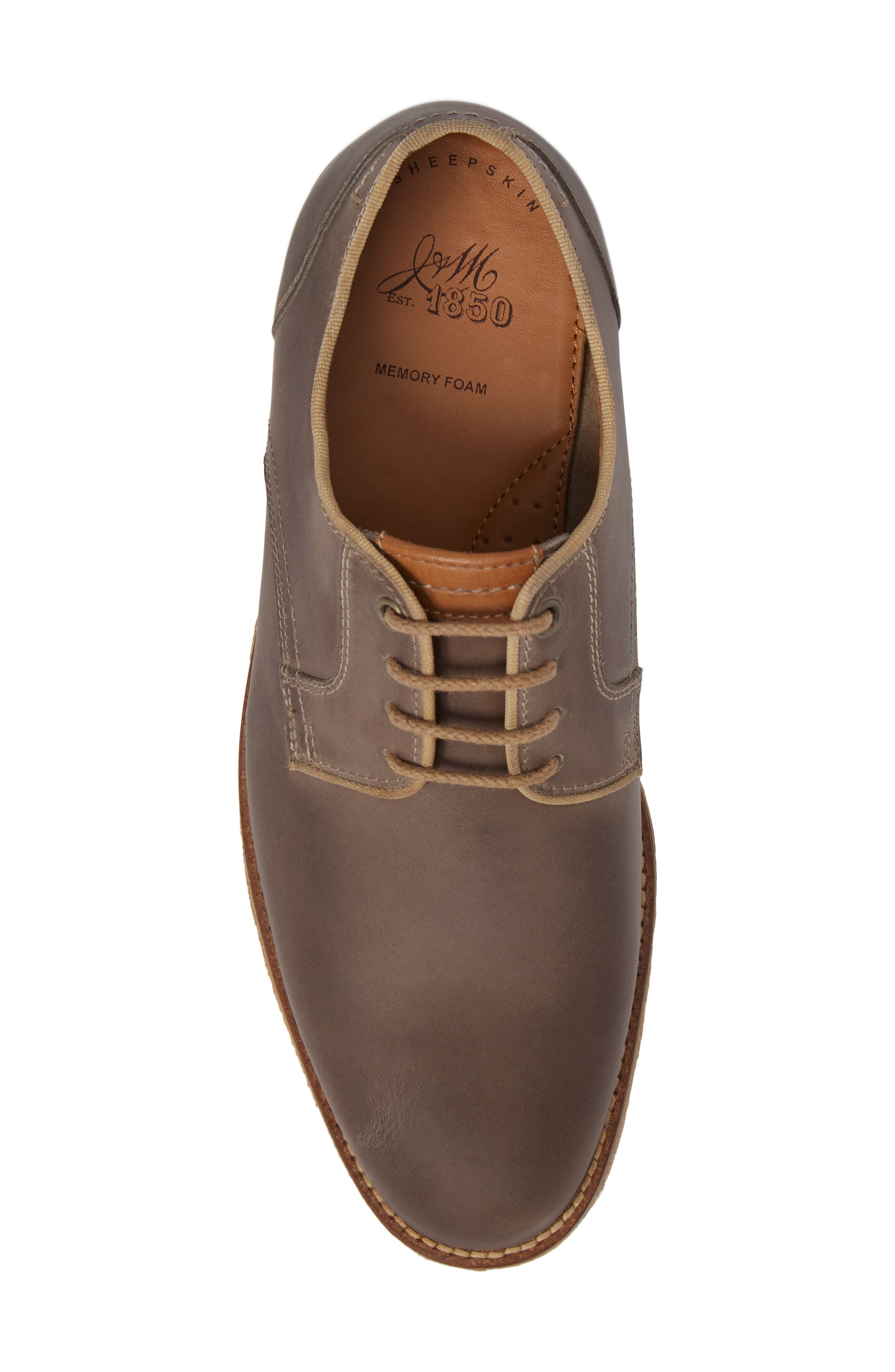Howell Plain Toe Derby,                             Alternate thumbnail 5, color,                             GREY SUEDE