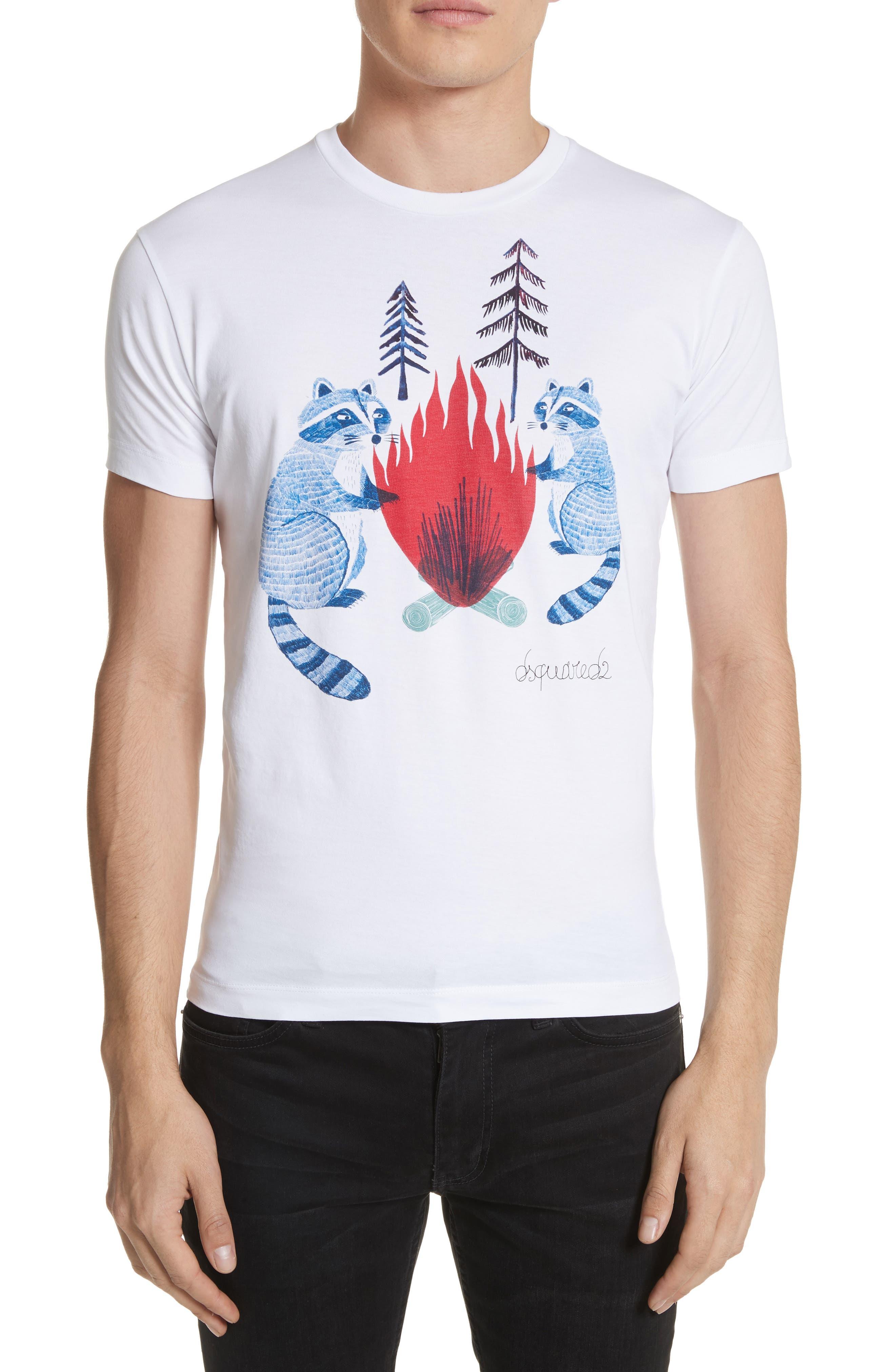 Raccoon Graphic T-Shirt,                             Main thumbnail 1, color,                             101