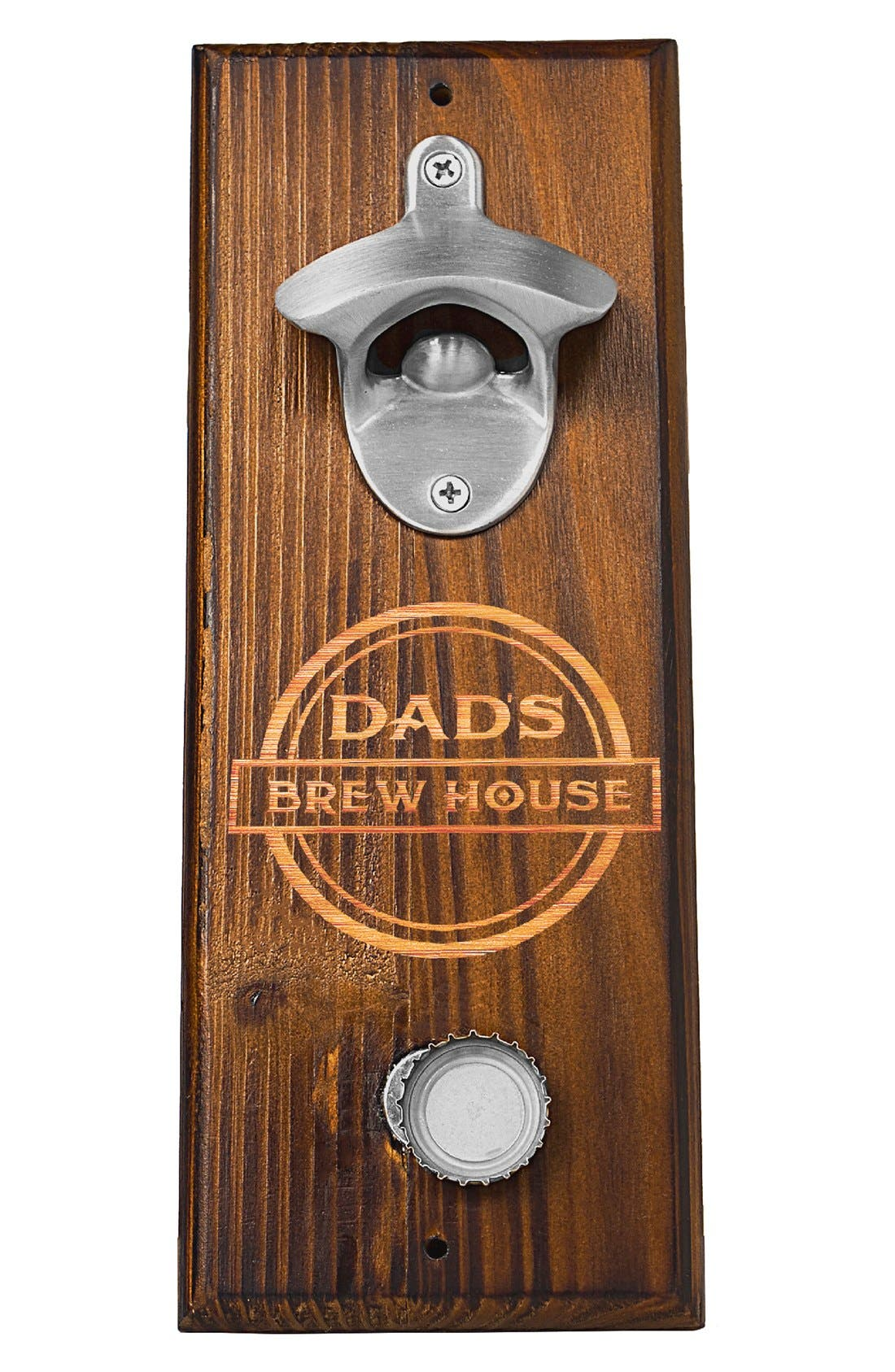 'Dad's Brew House' Wall Bottle Opener,                             Alternate thumbnail 4, color,                             200