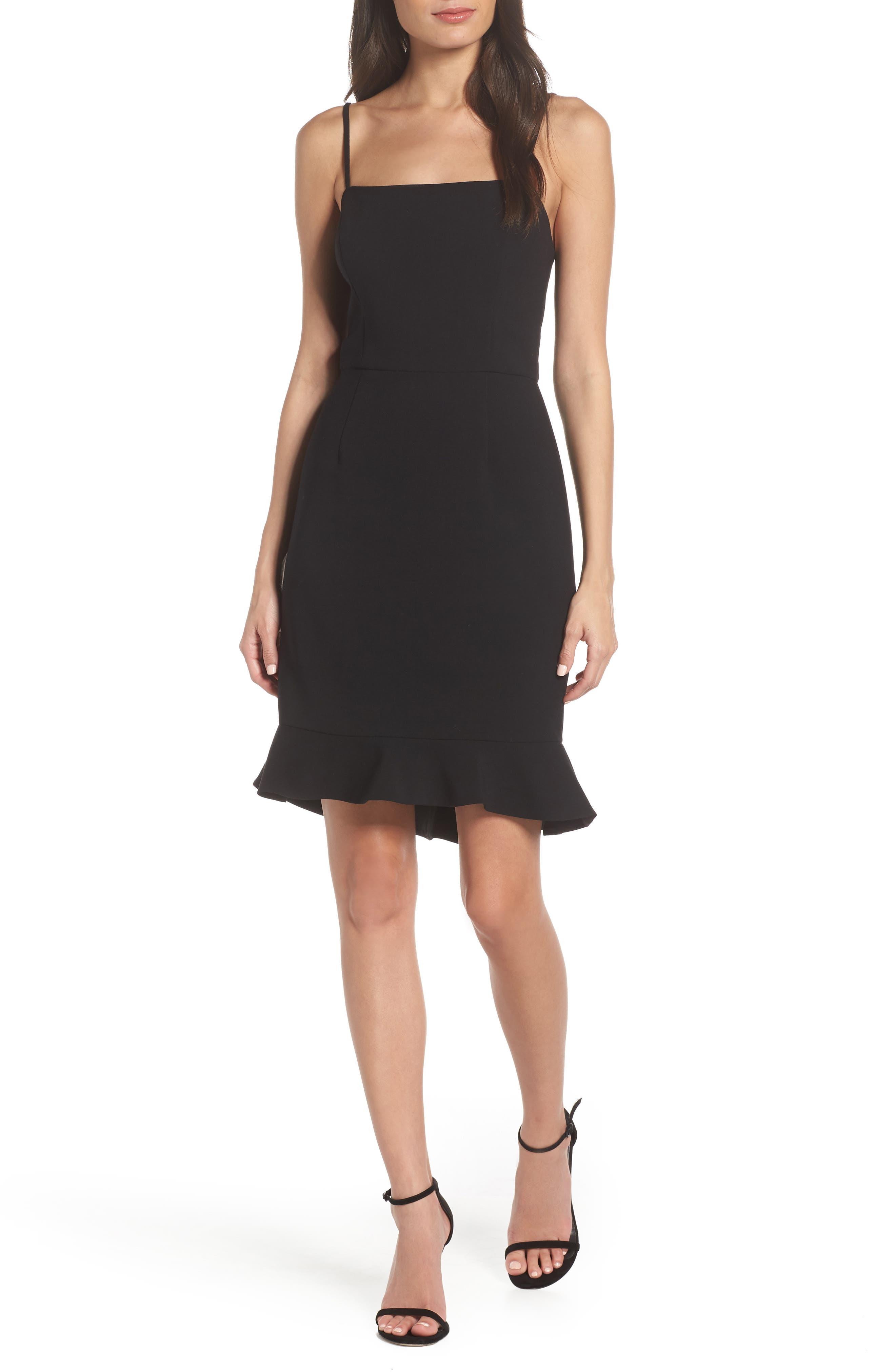 Whisper Sweetheart Dress,                             Alternate thumbnail 6, color,                             BLACK