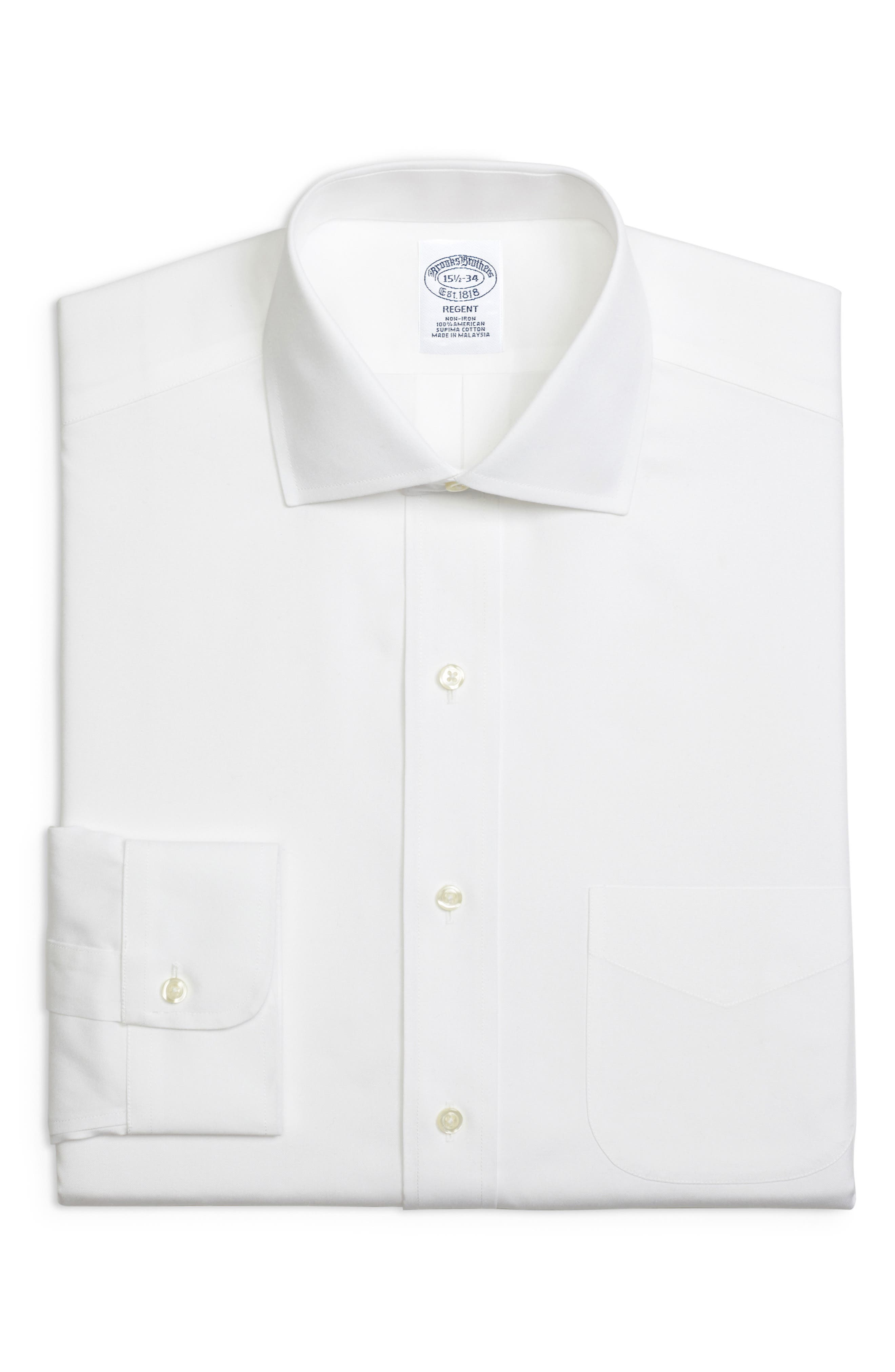 Regular Fit Solid Dress Shirt,                         Main,                         color, WHITE