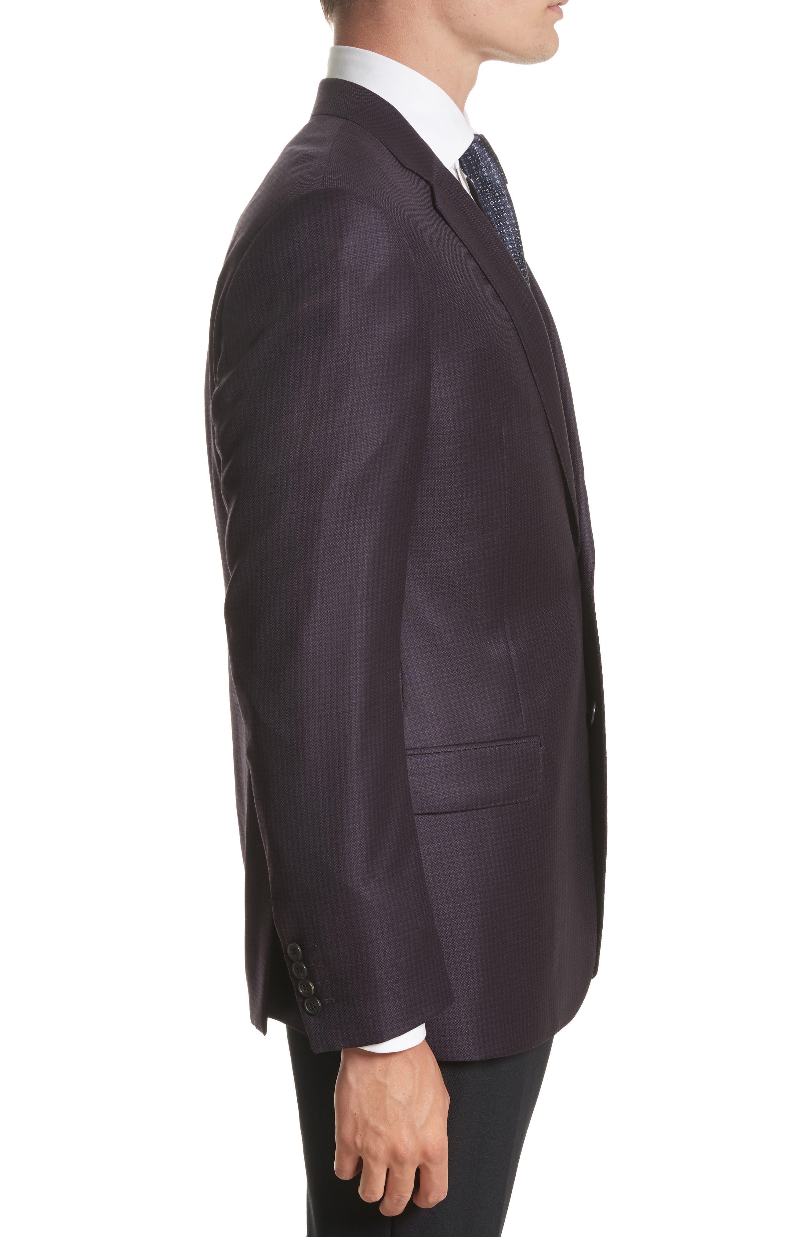 G-Line Trim Fit Houndstooth Wool Sport Coat,                             Alternate thumbnail 3, color,                             604
