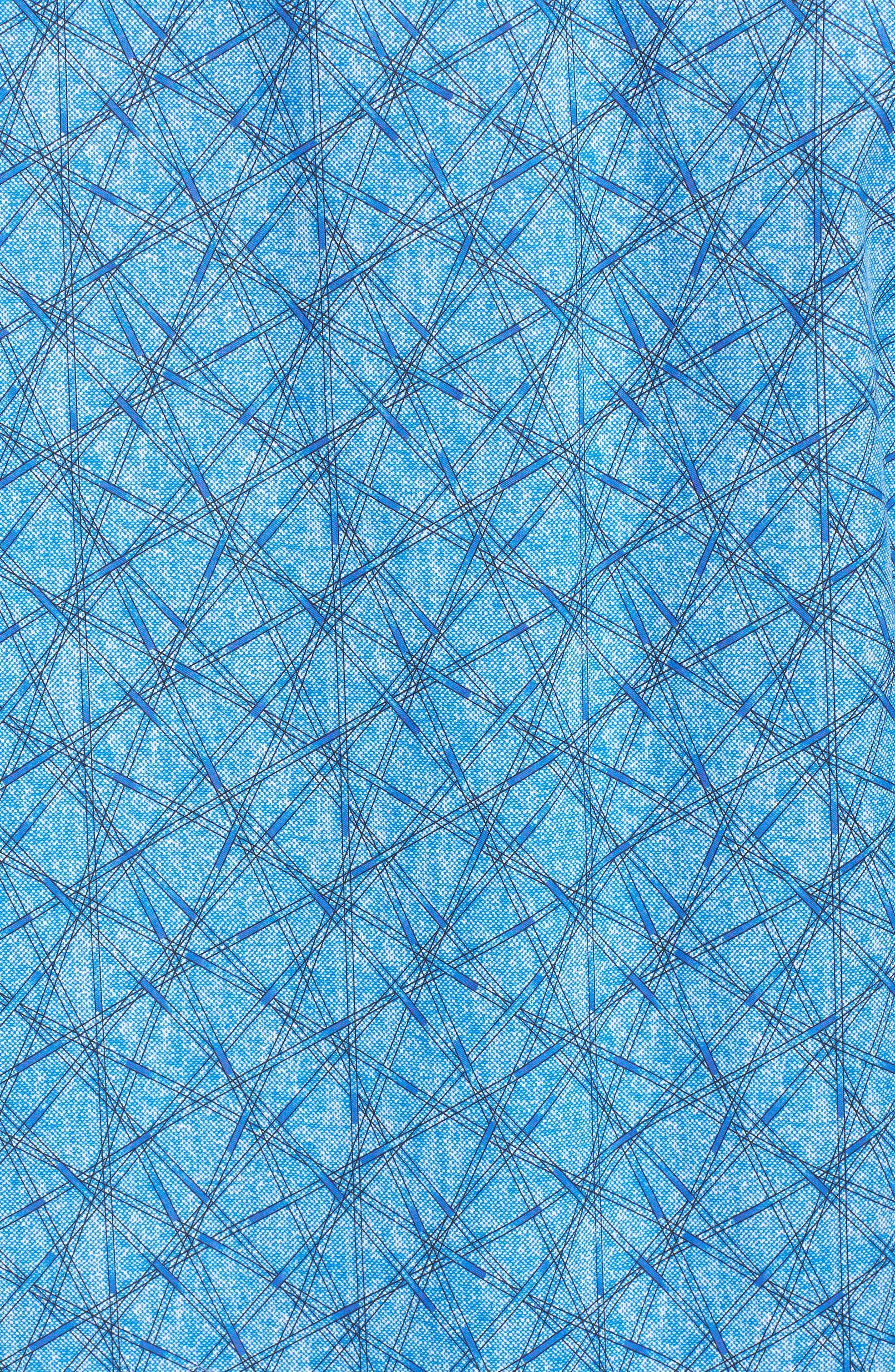 Slim Fit Abstract Print Sport Shirt,                             Alternate thumbnail 5, color,                             422