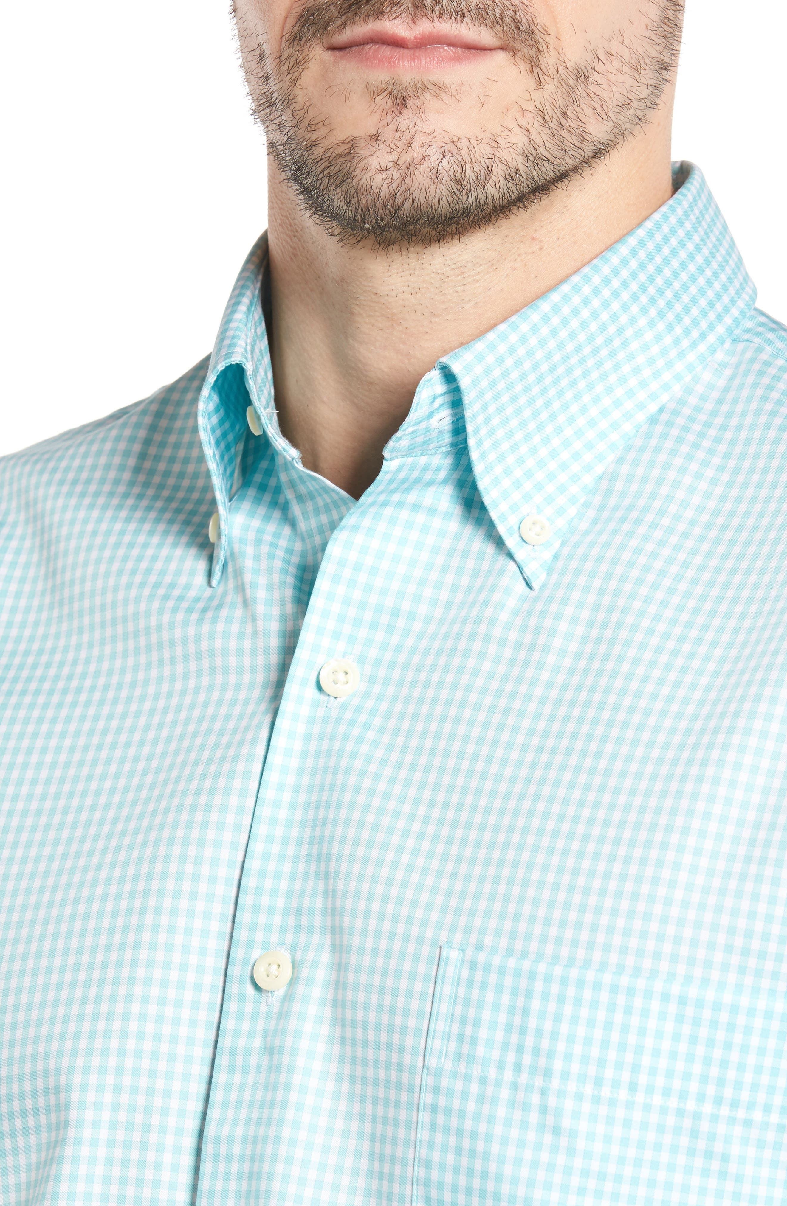 Crown Soft Gingham Regular Fit Sport Shirt,                             Alternate thumbnail 19, color,