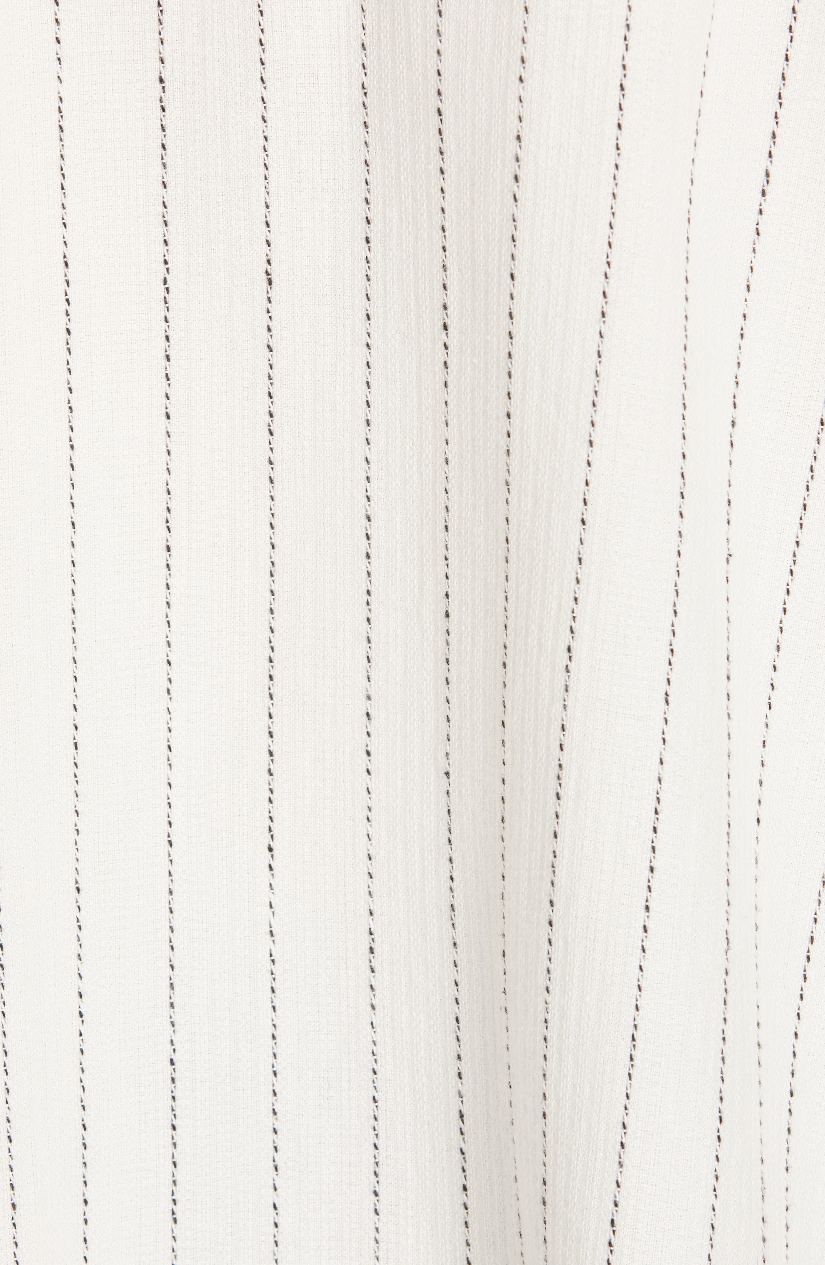 Boxy Stripe Shirt,                             Alternate thumbnail 5, color,                             ECRU