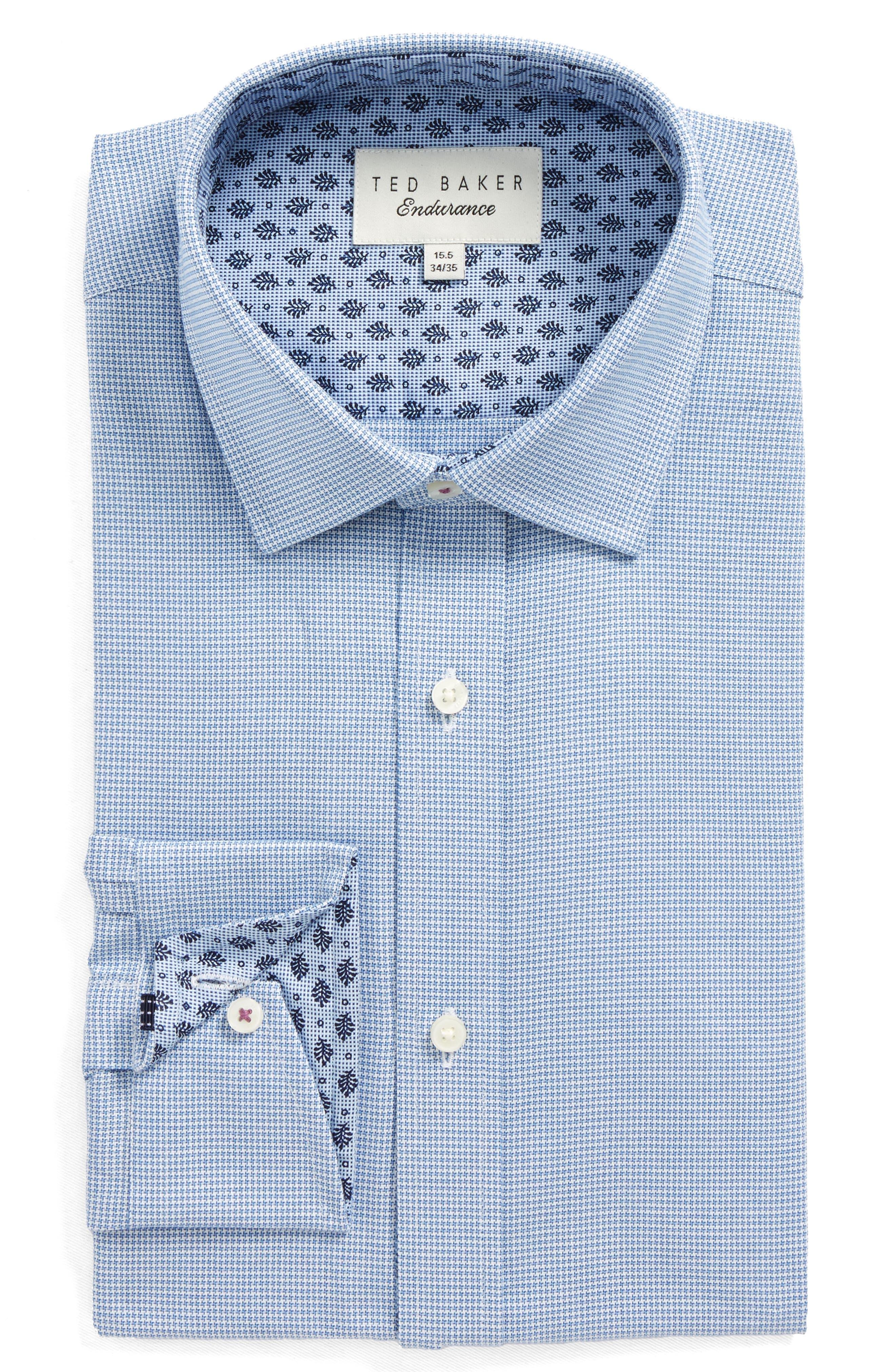 Endurance Renton Trim Fit Dress Shirt,                             Main thumbnail 1, color,                             BLUE