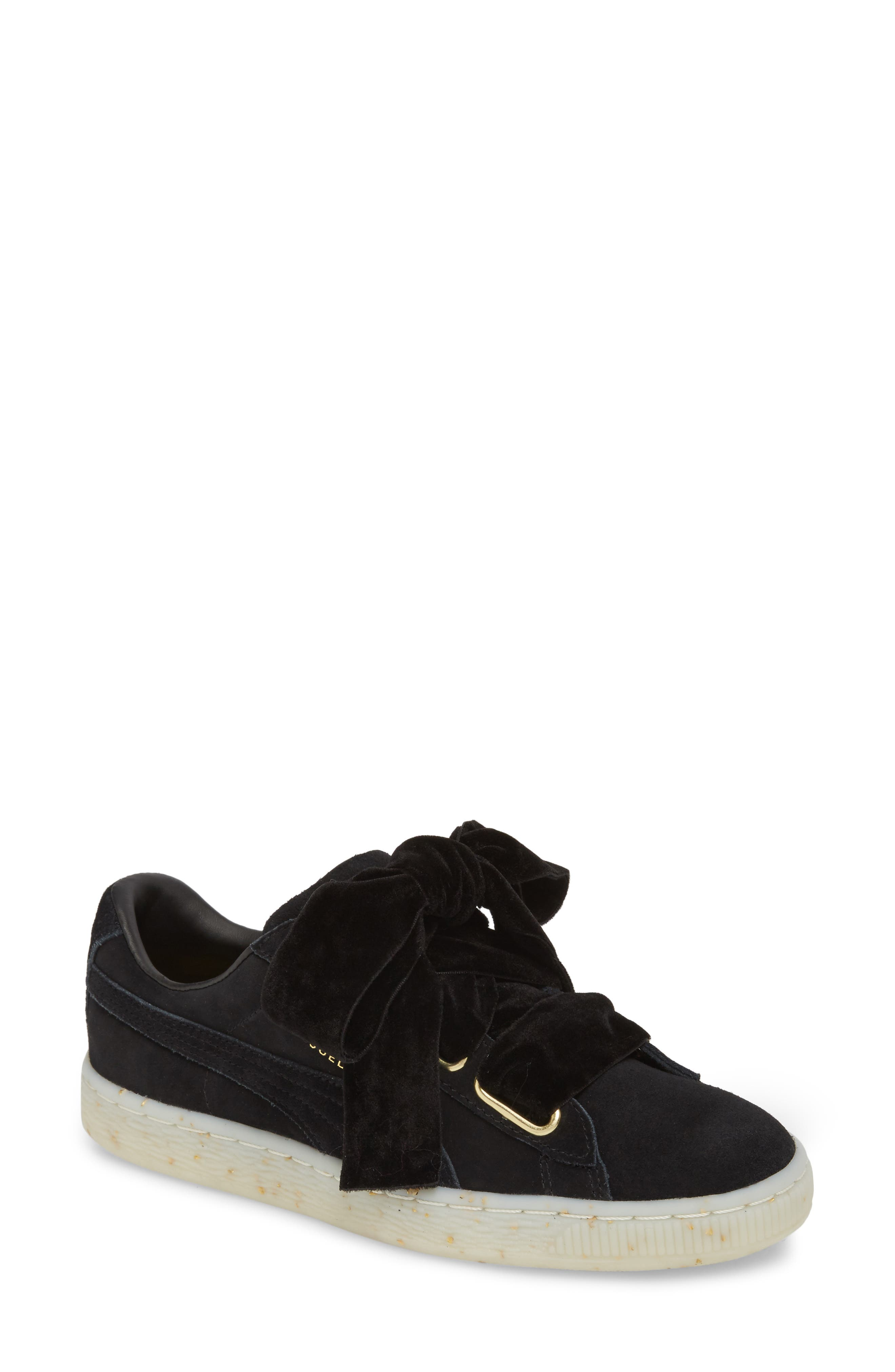 Suede - Heart Sneaker,                         Main,                         color, 002