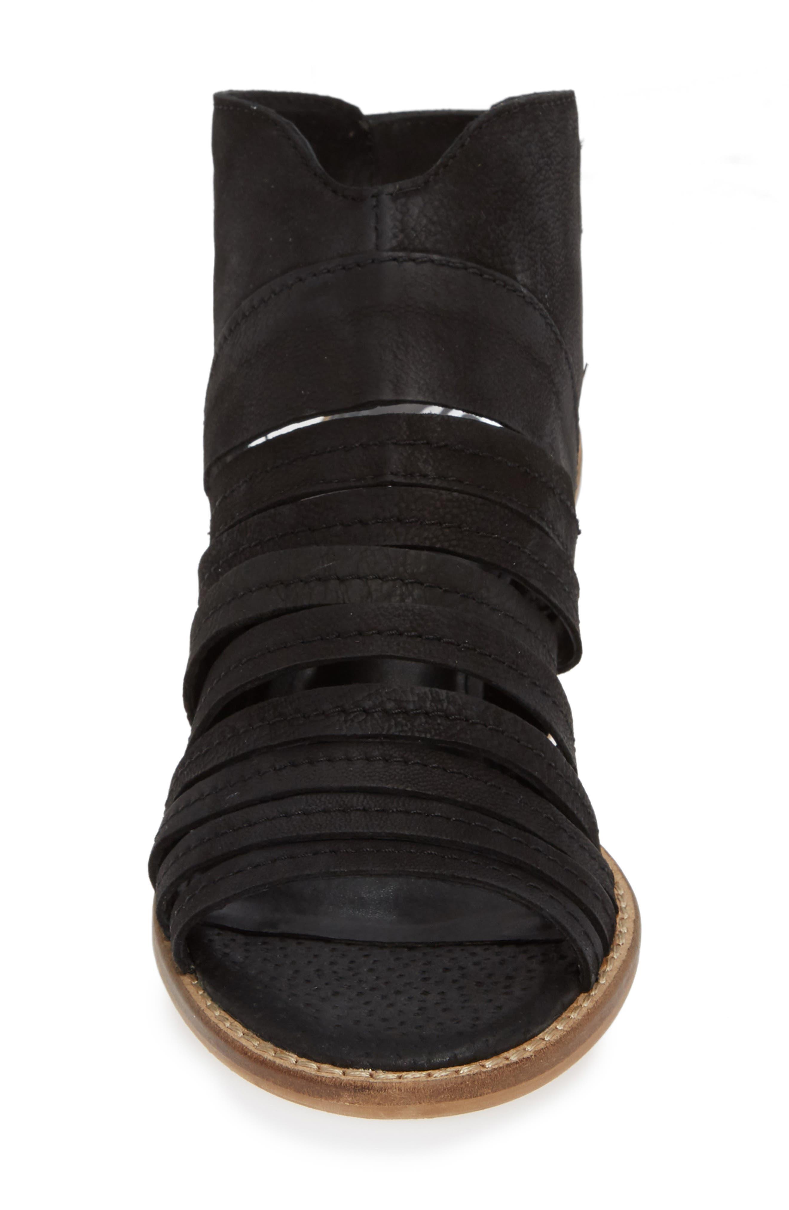 Ainsworth Sandal,                             Alternate thumbnail 4, color,                             BLACK LEATHER