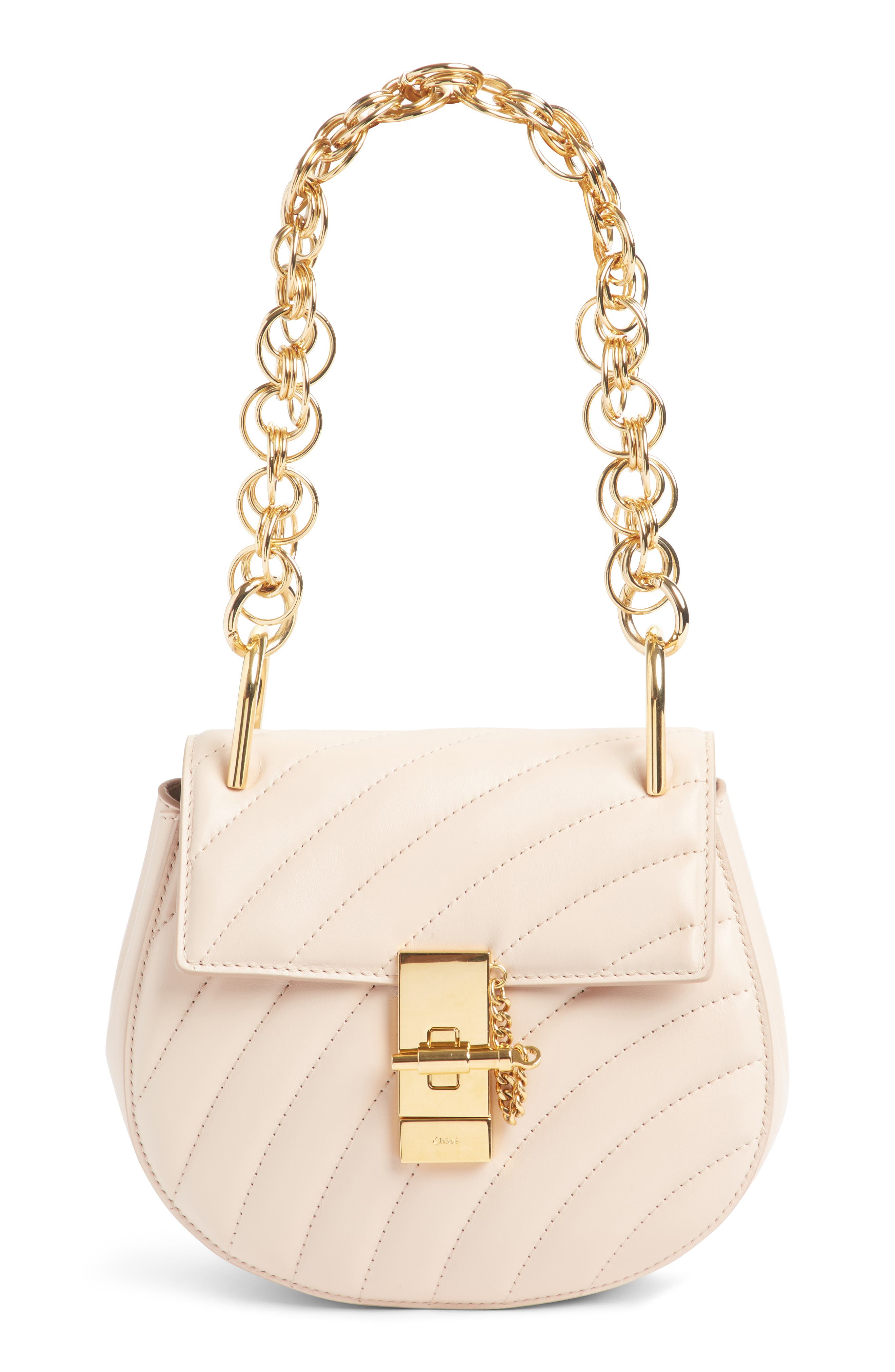 CHLOÉ Mini Drew Bijoux Leather Shoulder Bag, Main, color, 680