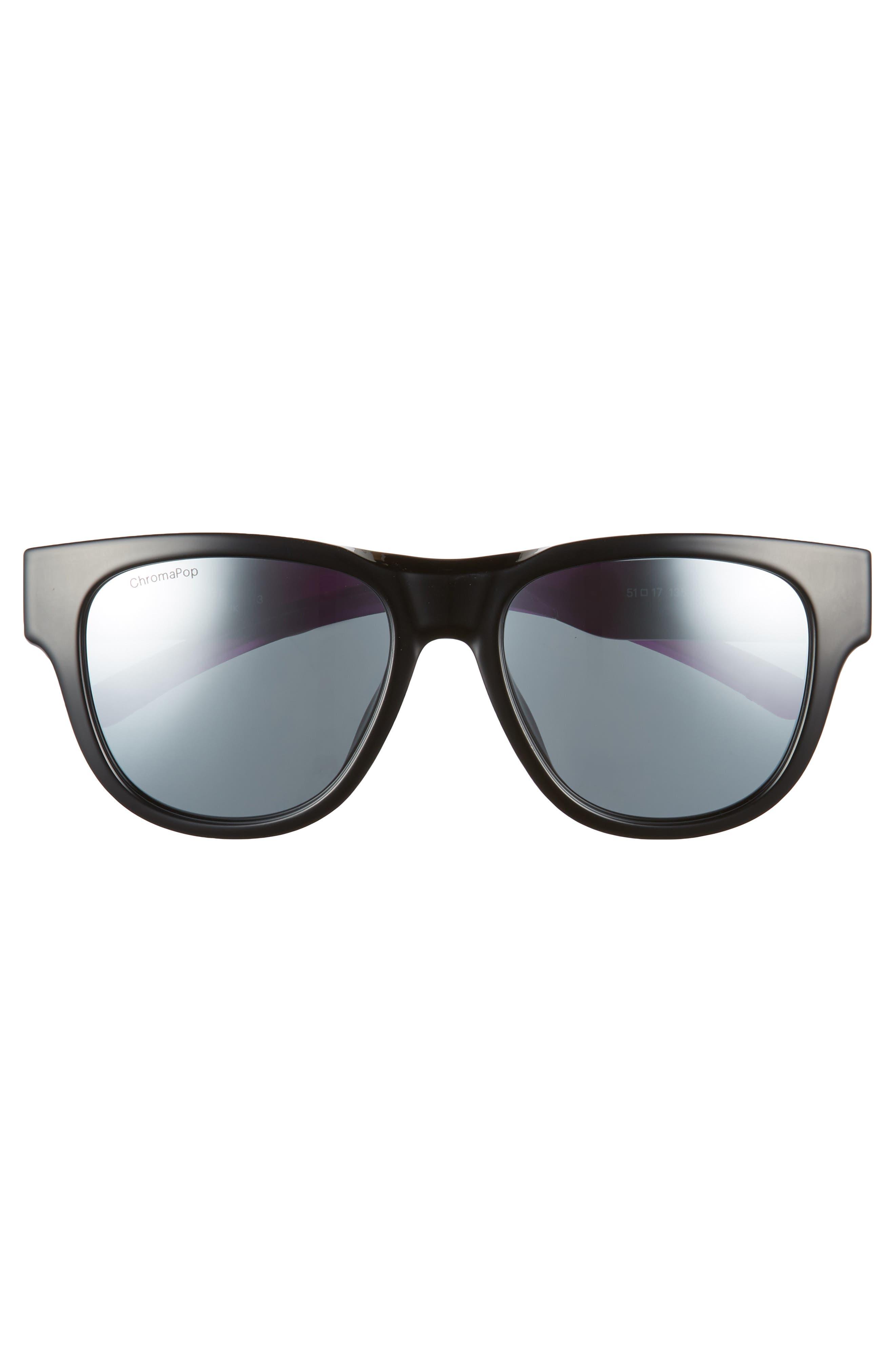 Rounder 52mm ChromaPop<sup>™</sup> Polarized Sunglasses,                             Alternate thumbnail 3, color,                             VIOLET SPRAY