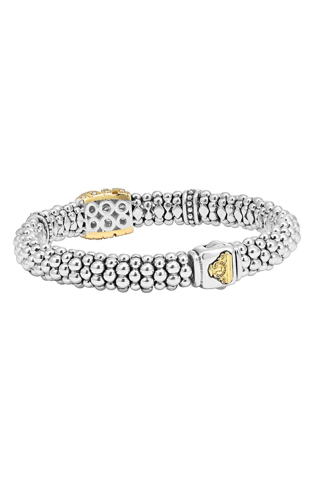 'Diamonds & Caviar' Diamond Rope Bracelet,                             Alternate thumbnail 4, color,                             040