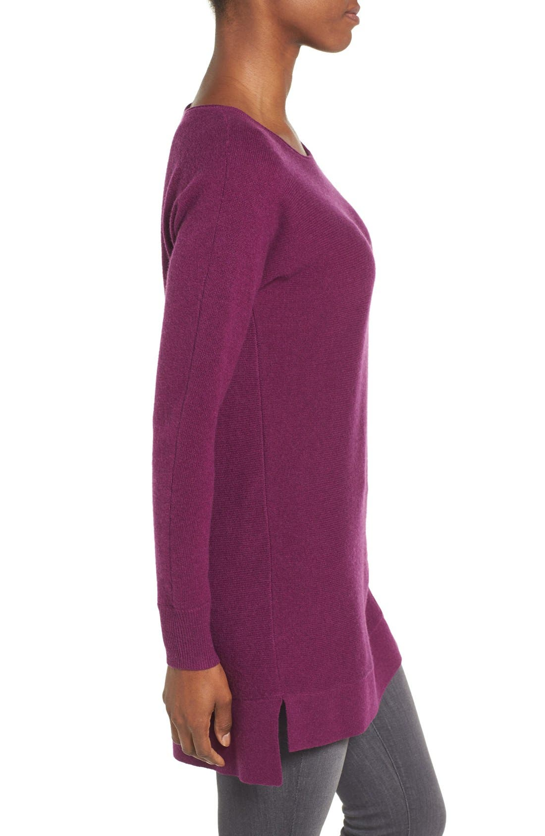 High/Low Wool & Cashmere Tunic Sweater,                             Alternate thumbnail 48, color,