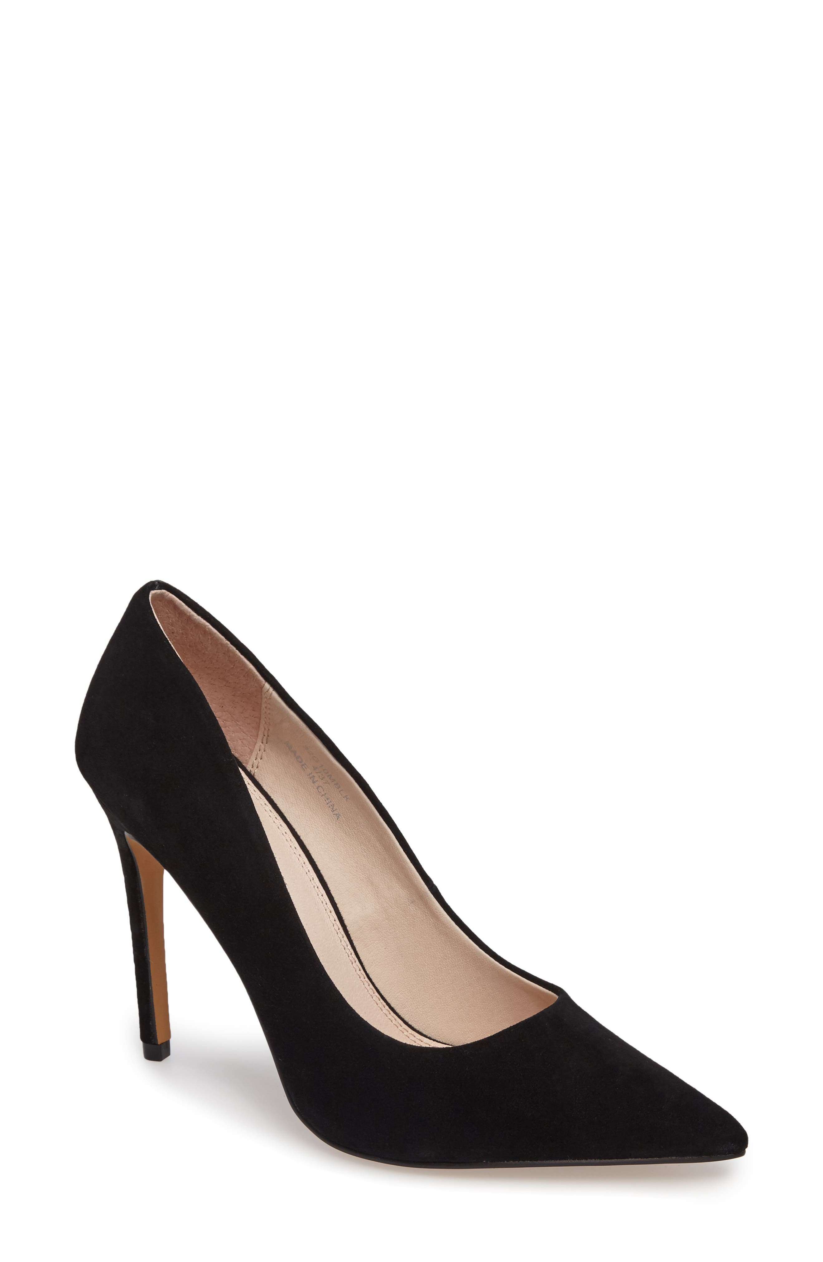 TOPSHOP Grammer Pointy Toe Pump, Main, color, 001