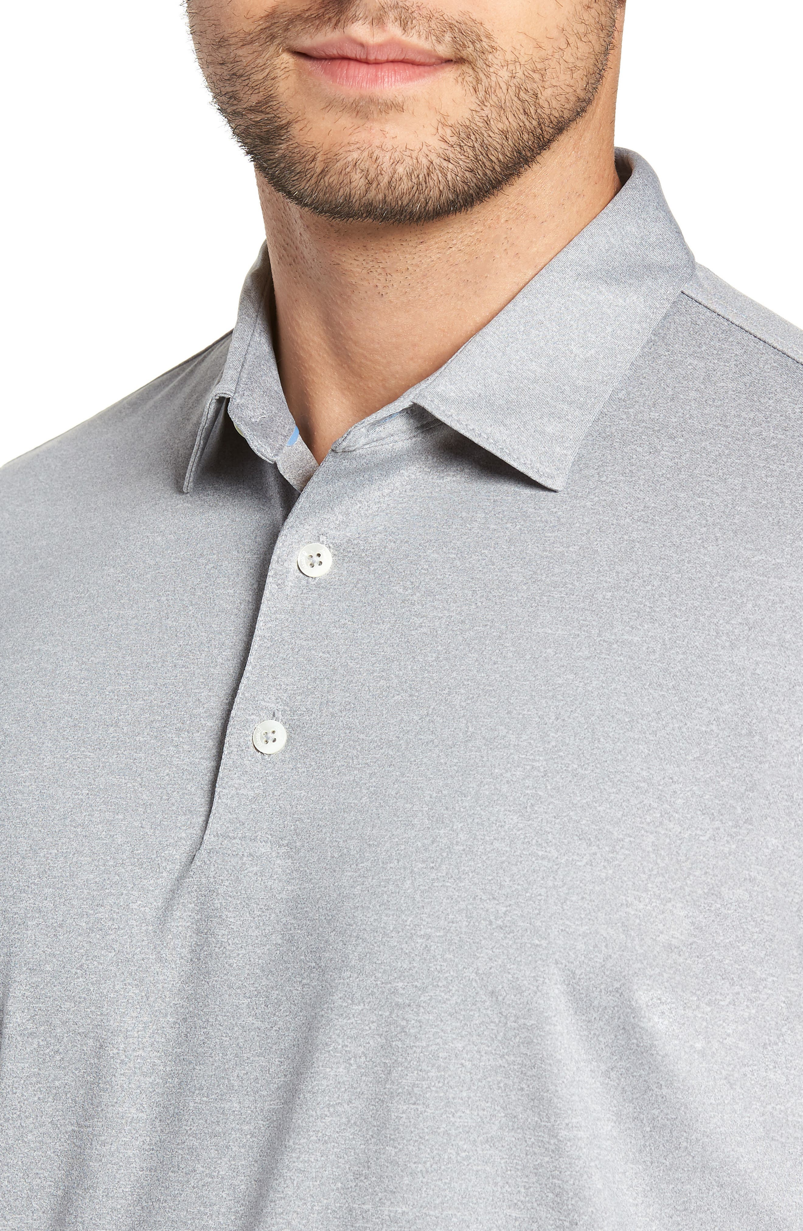 Birdie Classic Fit Performance Polo,                             Alternate thumbnail 4, color,                             METEOR
