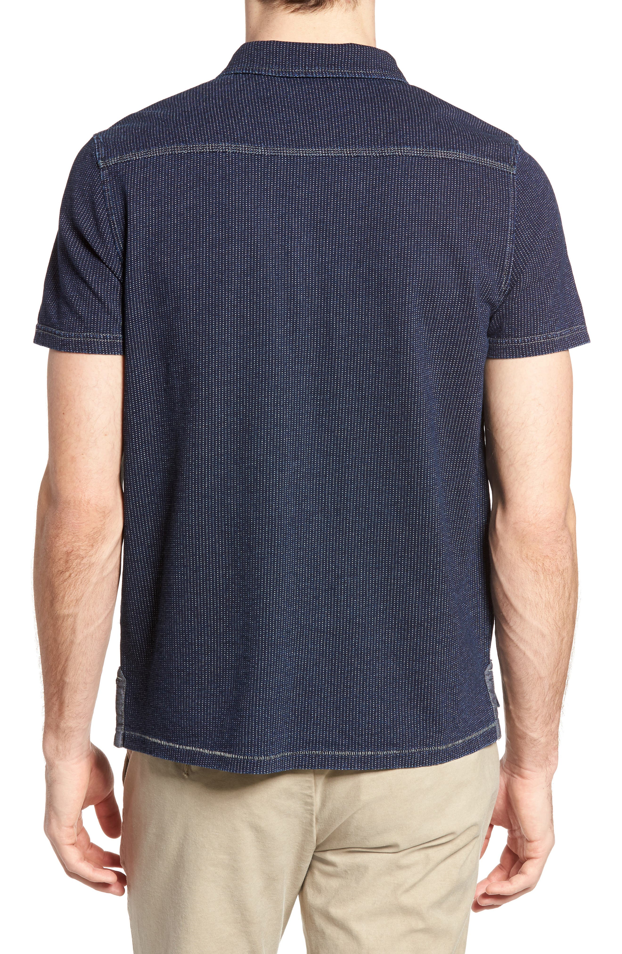 Humboldt Indigo Jacquard Polo,                             Alternate thumbnail 2, color,                             419