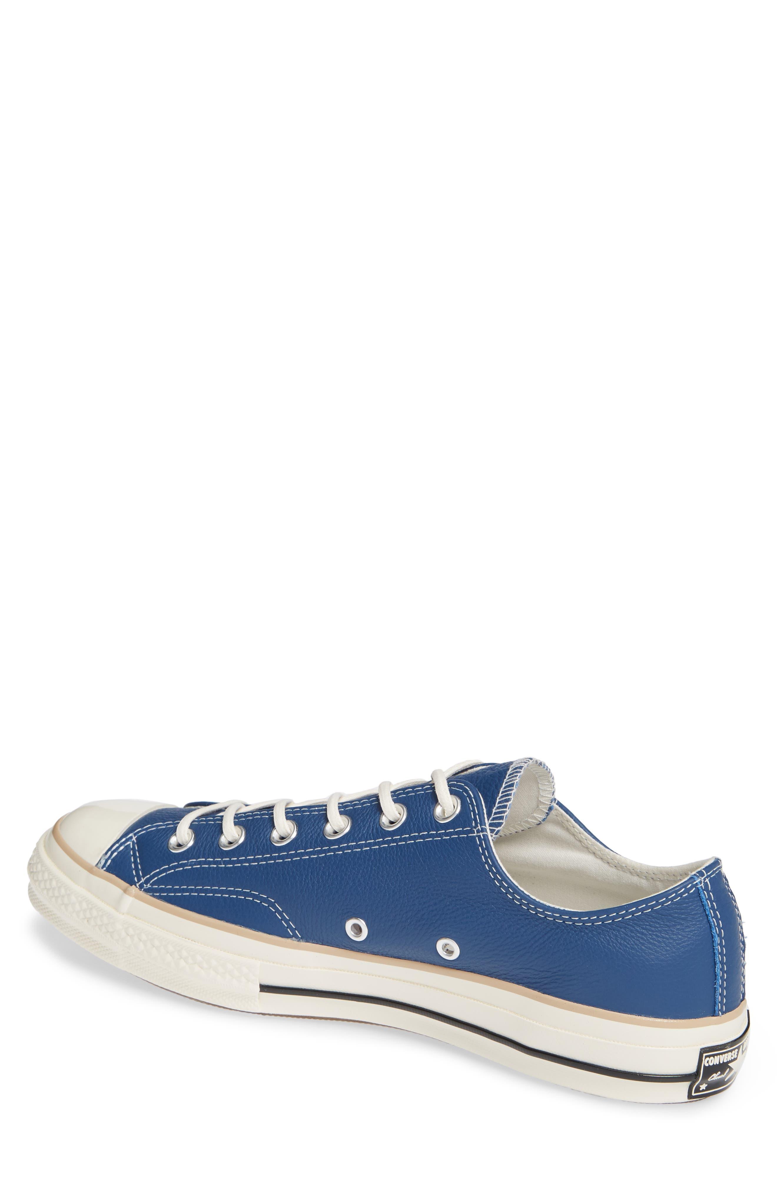 Chuck 70 Boot Leather Low Top Sneaker,                             Alternate thumbnail 2, color,                             DARK BURGUNDY/ CYAN/ EGRET