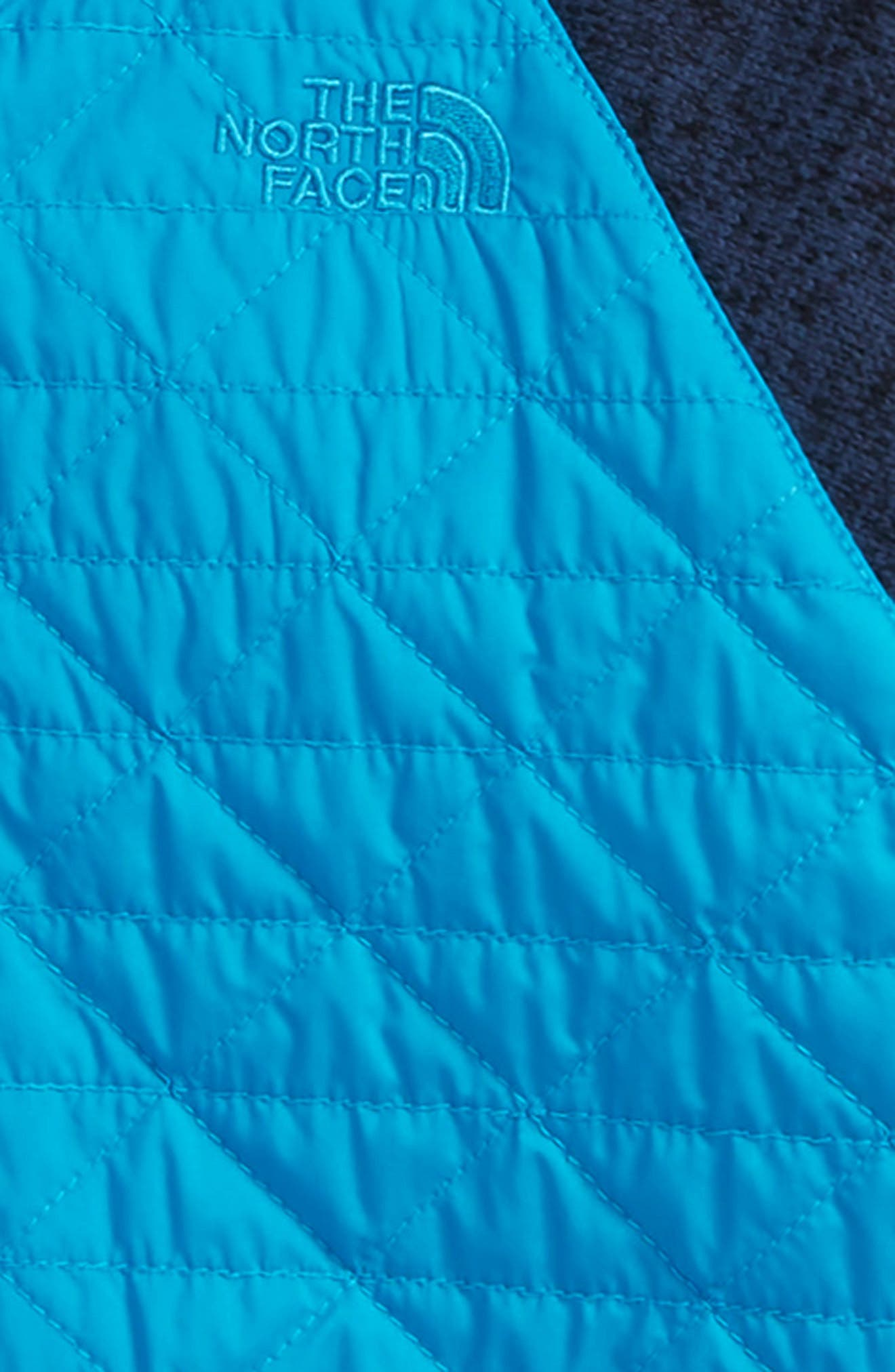 Water Repellent Quilted Sweater Fleece Jacket,                             Alternate thumbnail 2, color,                             COSMIC BLUE/ HYPER BLUE