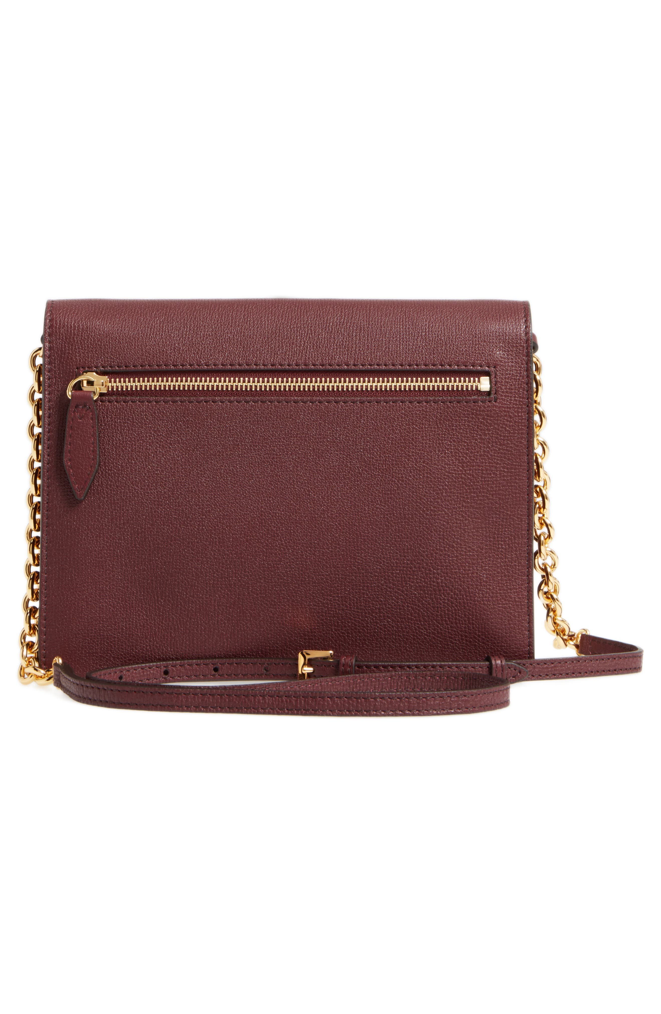 Macken Leather Derby Crossbody Bag,                             Alternate thumbnail 3, color,                             606