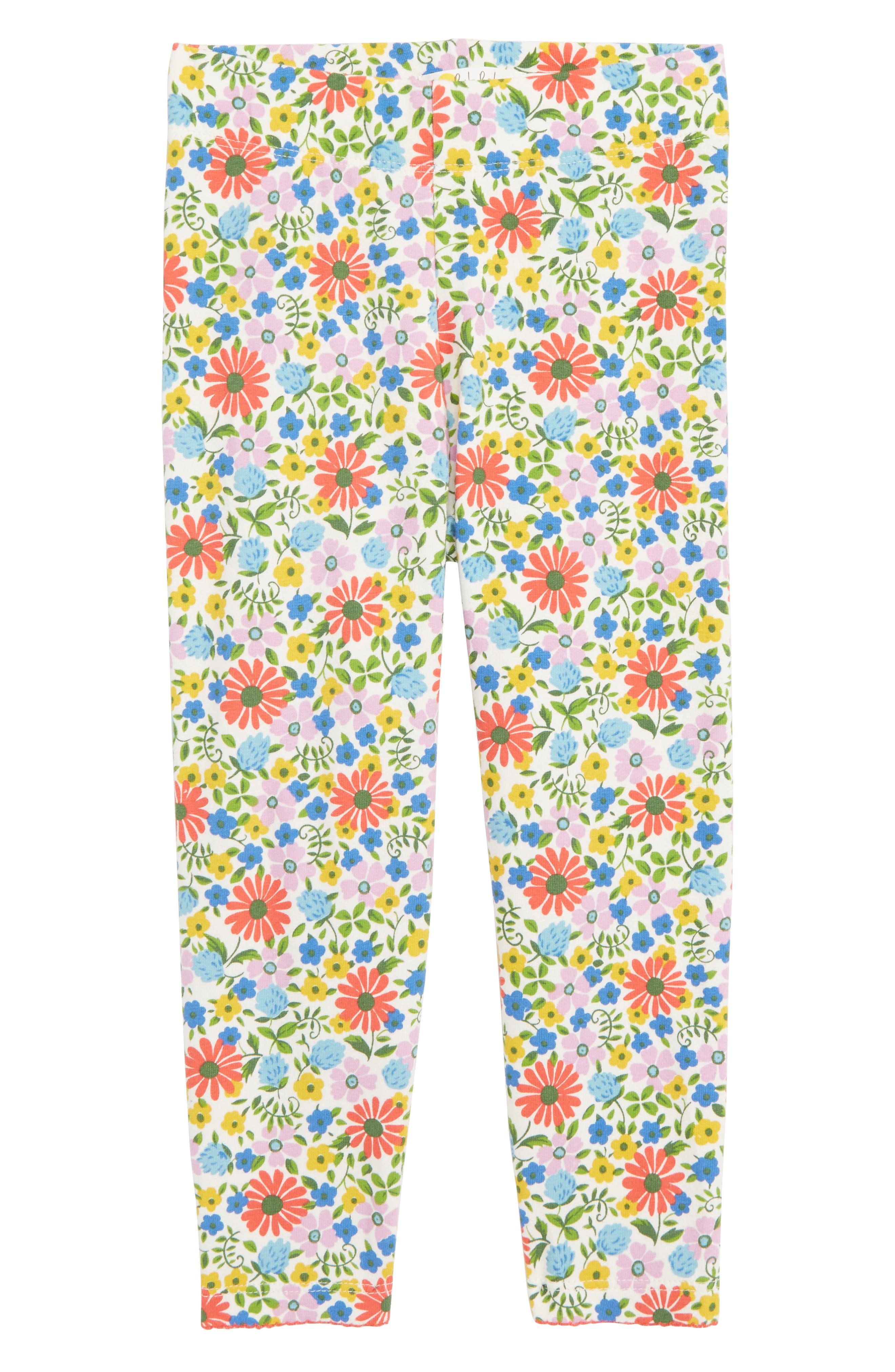 MINI BODEN Floral Print Leggings, Main, color, MUL MULTI JOLLY FLORAL