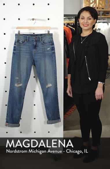 Cuffed Ripped Boyfriend Jeans, sales video thumbnail