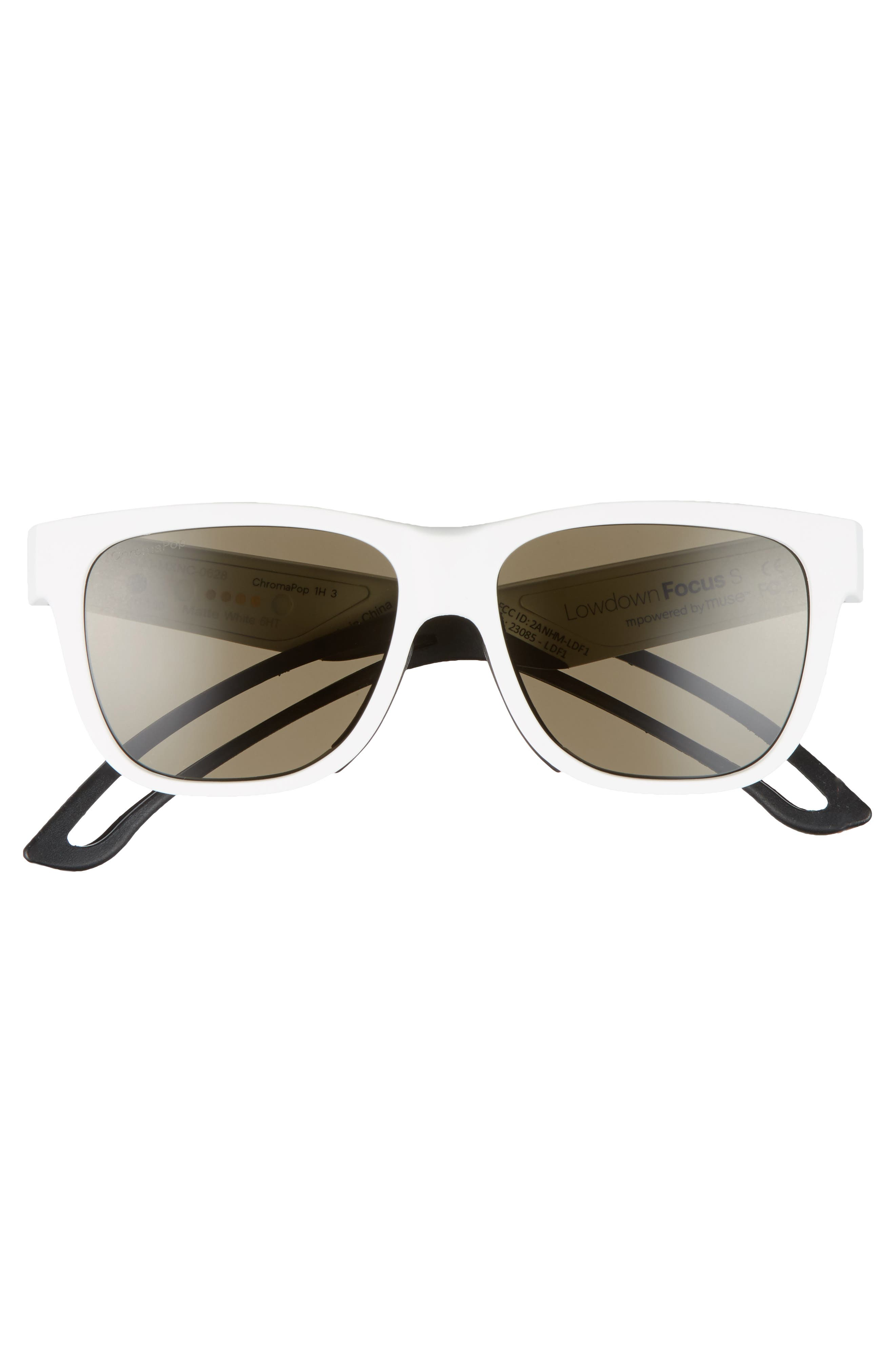 Lowdown Focus Slim 56mm ChromaPop Sunglasses,                             Alternate thumbnail 3, color,                             100