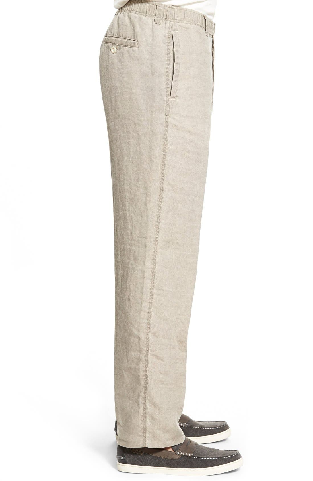 'New Linen on the Beach' Easy Fit Pants,                             Alternate thumbnail 18, color,