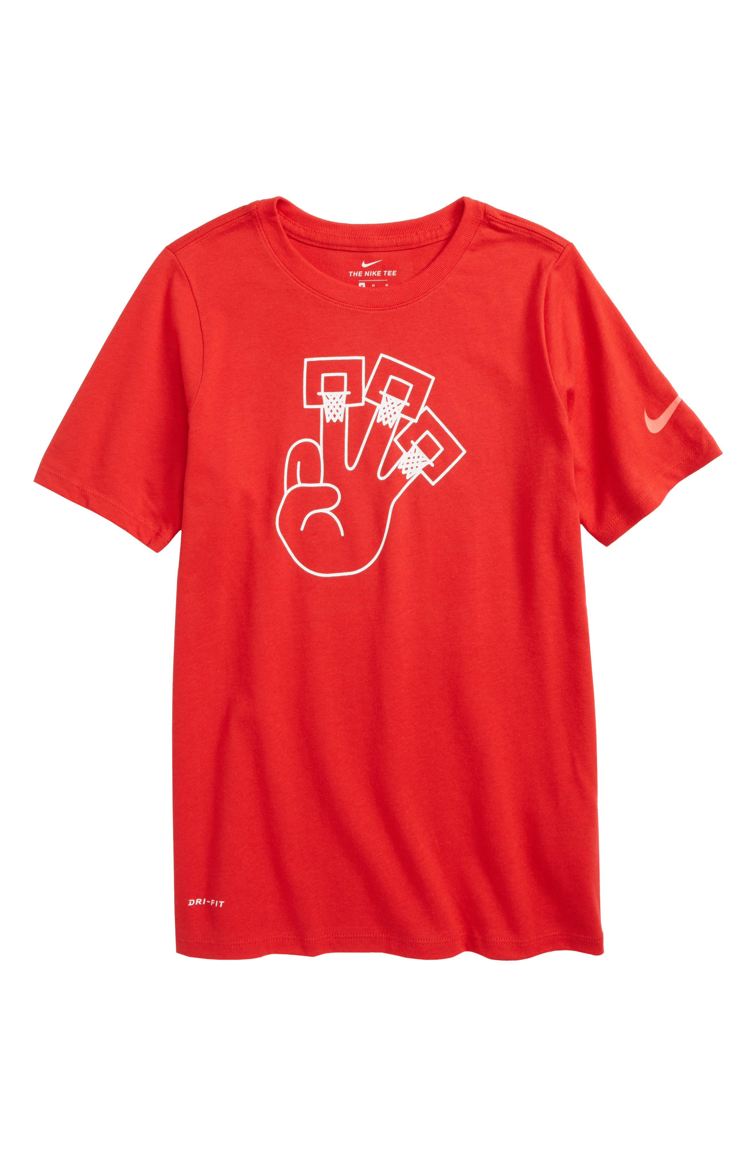 Dry 3Hoops Graphic T-Shirt,                             Main thumbnail 4, color,