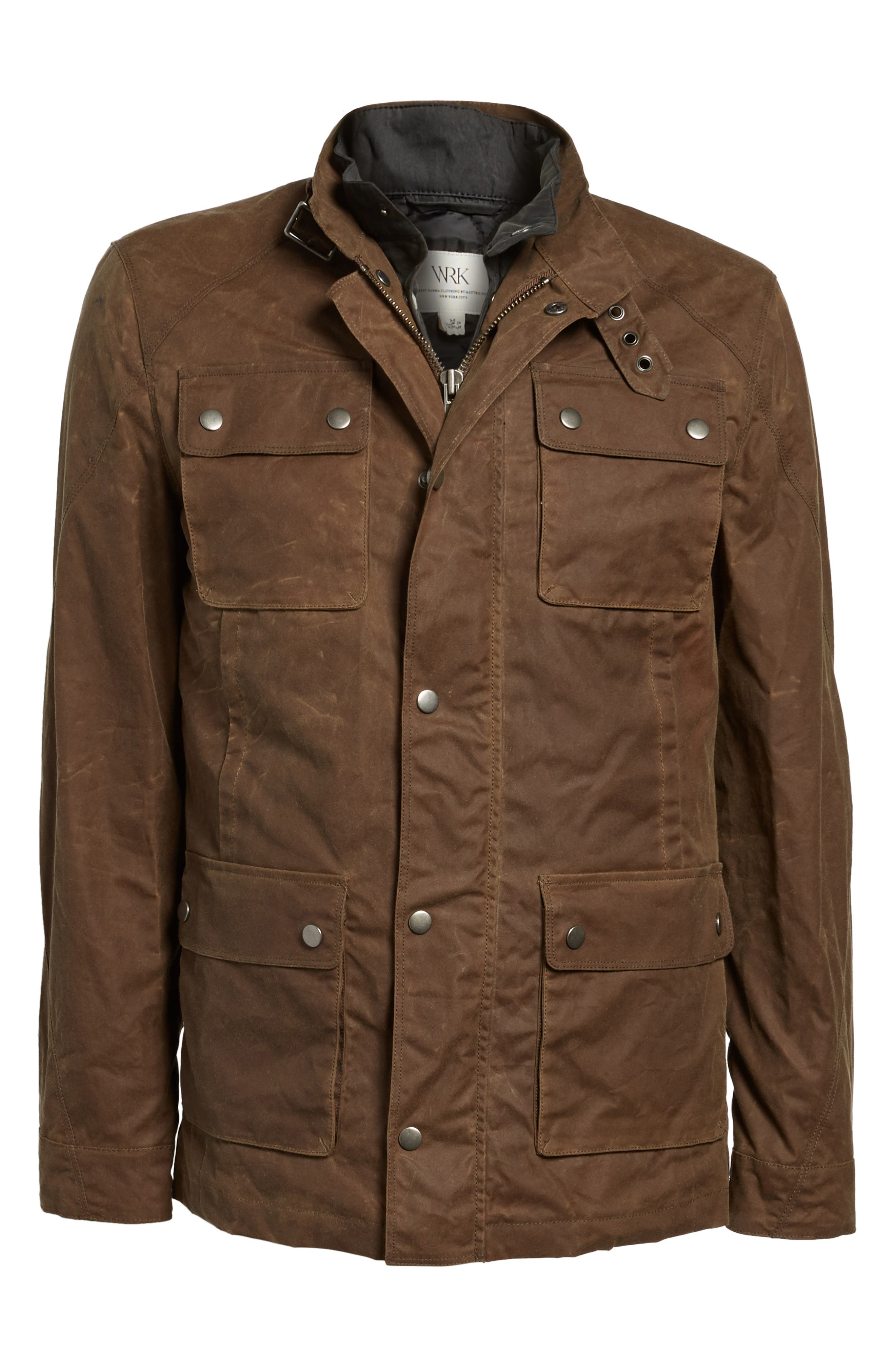 3-in-1 Waxed Cotton Jacket with Removable Vest,                             Alternate thumbnail 5, color,                             250