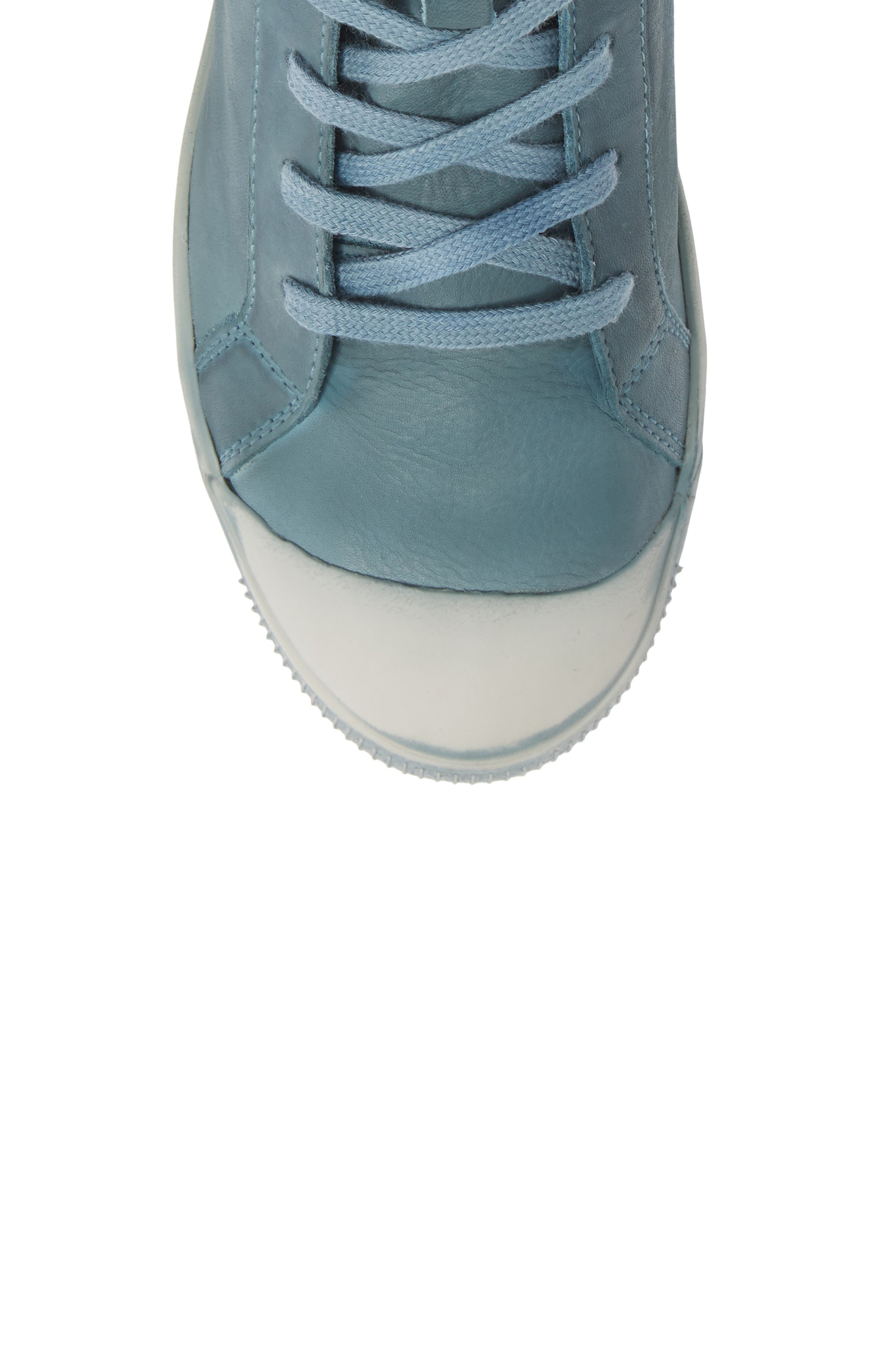 Kip High Top Sneaker,                             Alternate thumbnail 5, color,                             NUDE BLUE WASHED LEATHER