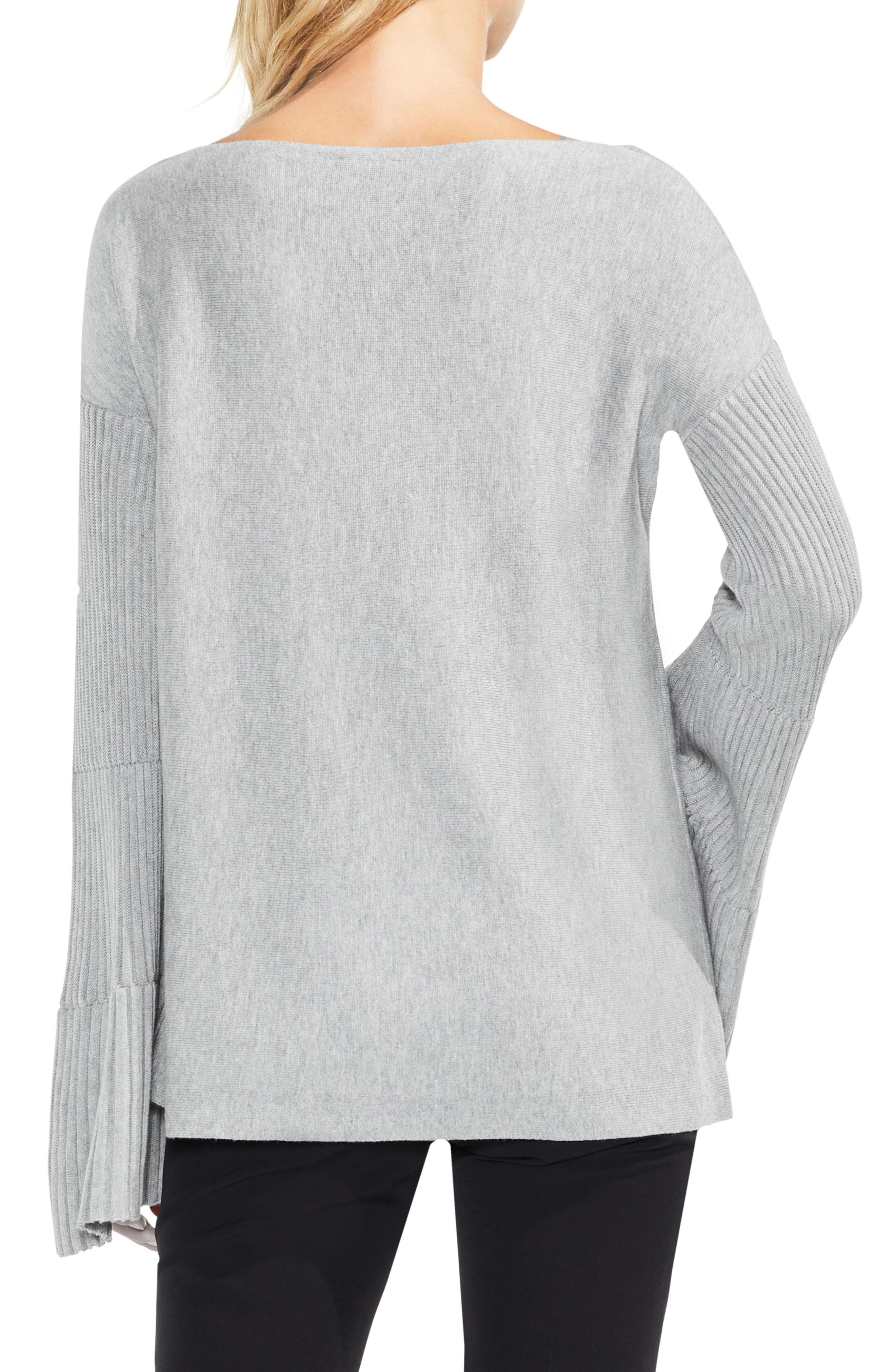 Bell Sleeve Ribbed Sweater,                             Alternate thumbnail 13, color,
