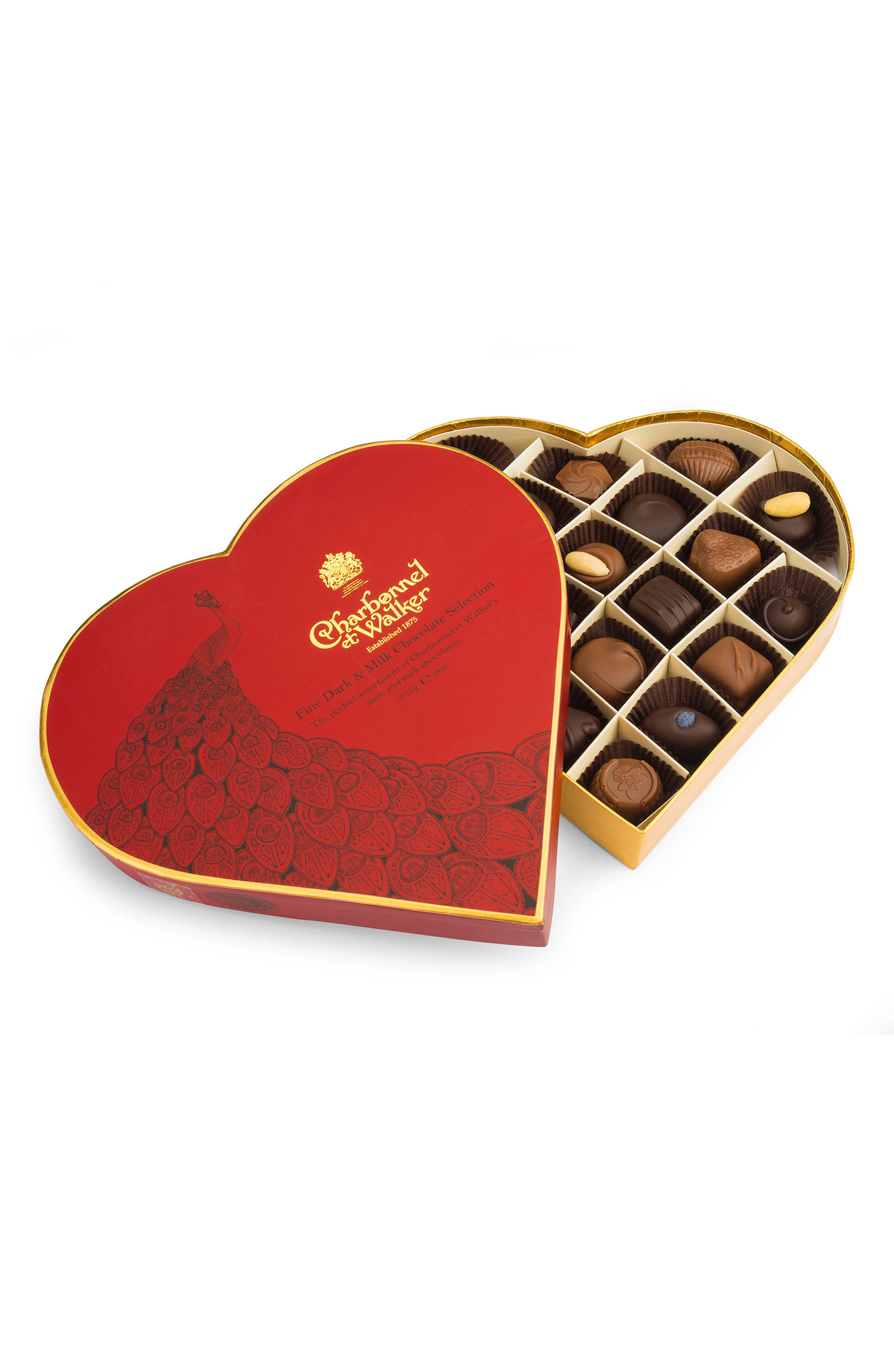 Assorted Chocolates in Heart Shaped Gift Box,                             Main thumbnail 1, color,                             600