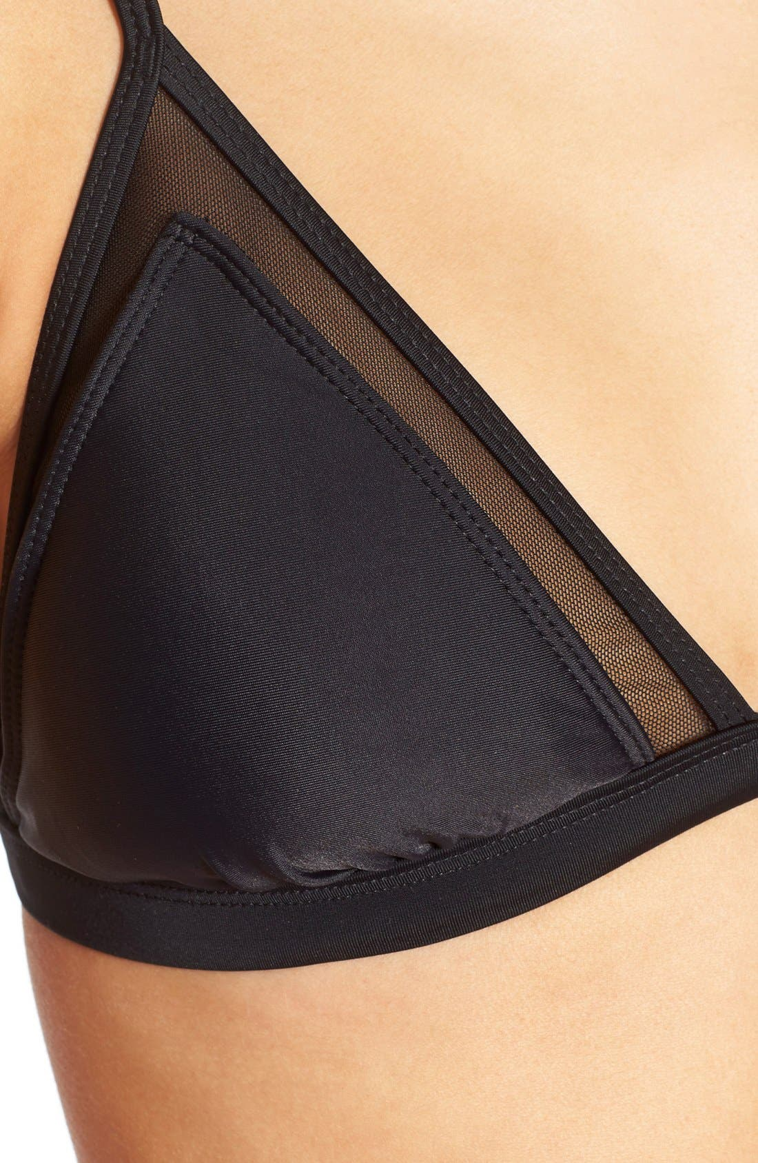 Mesh Triangle Bikini Top,                             Alternate thumbnail 6, color,                             001