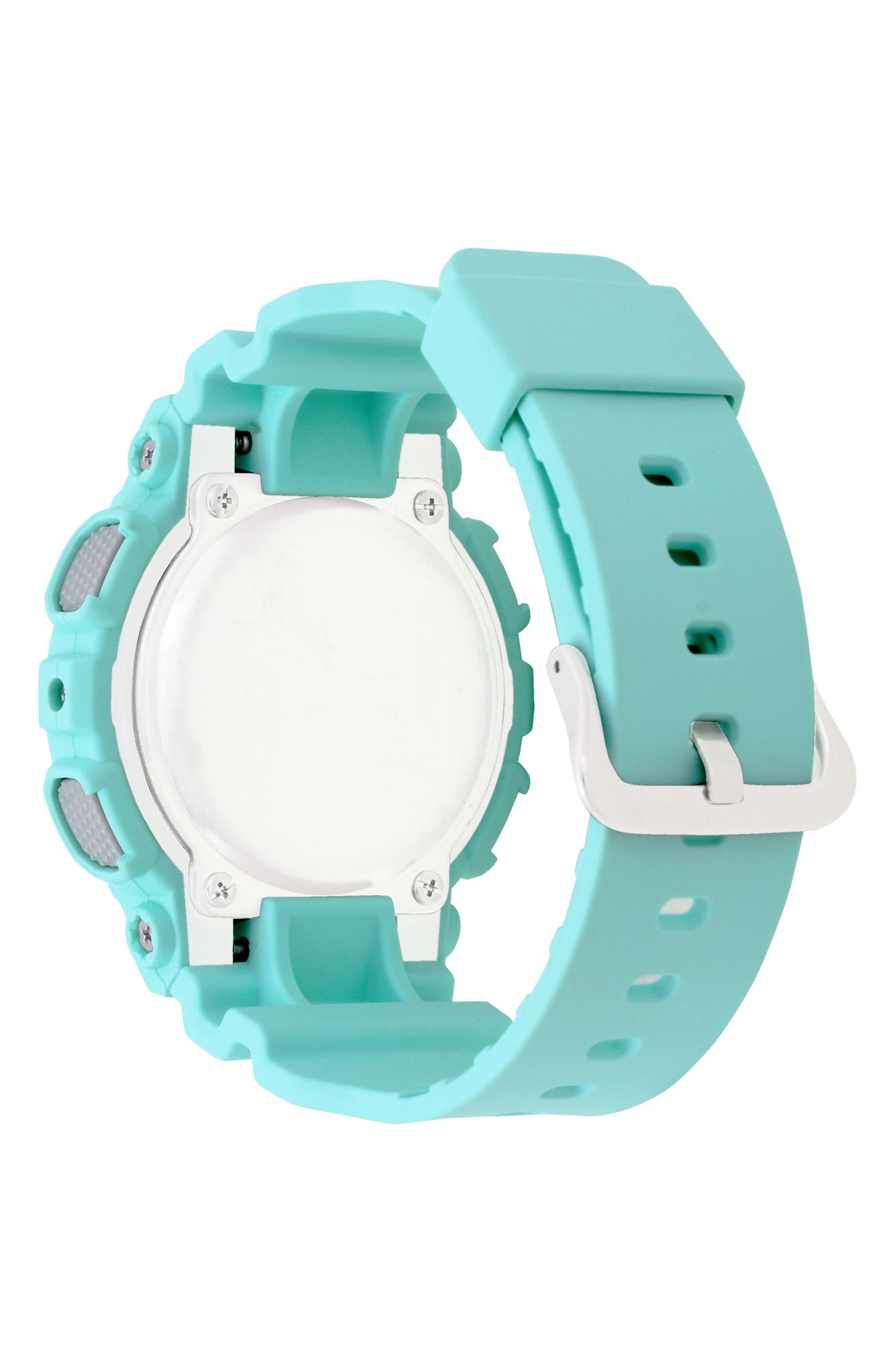 S-Series Resin Ana-Digi Watch, 46mm,                             Alternate thumbnail 2, color,                             BLUE