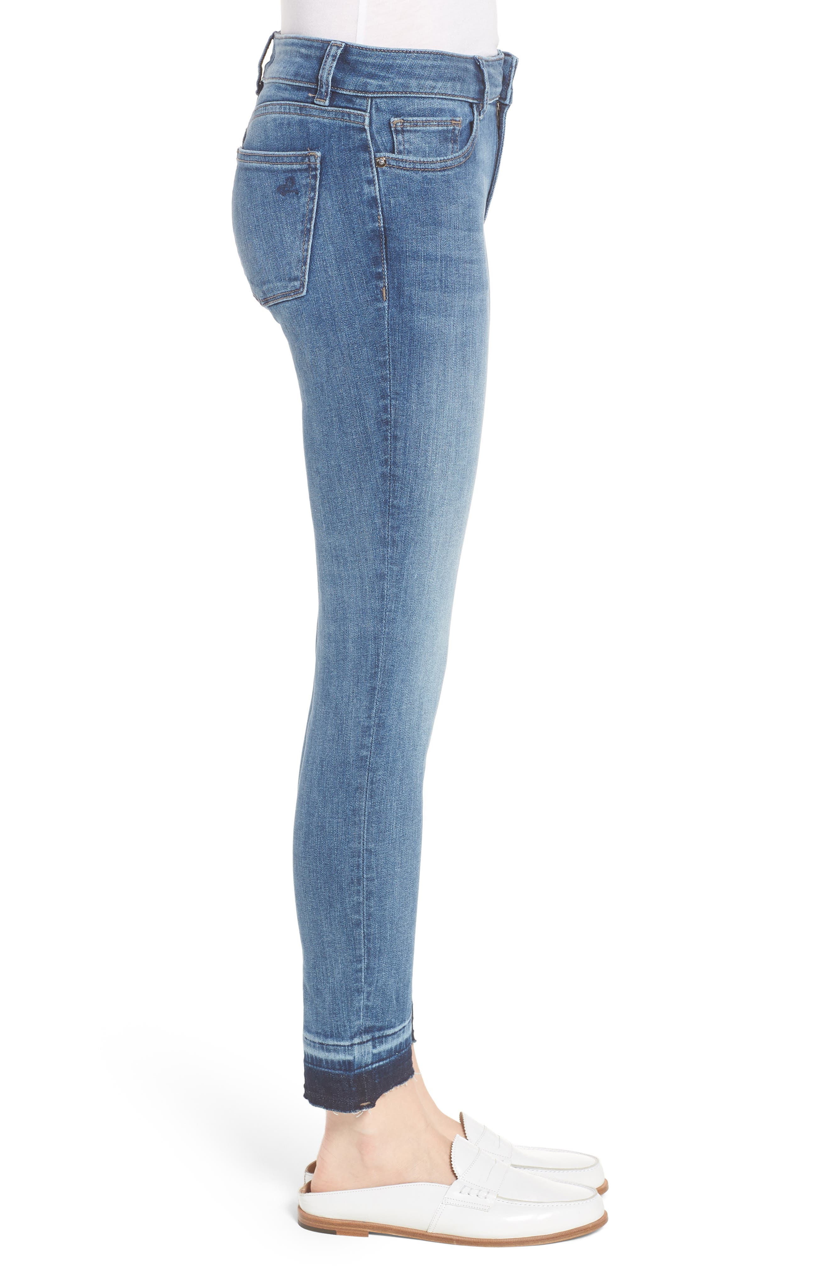 Margaux Instasculpt Ankle Skinny Jeans,                             Alternate thumbnail 3, color,                             COSTA MESA